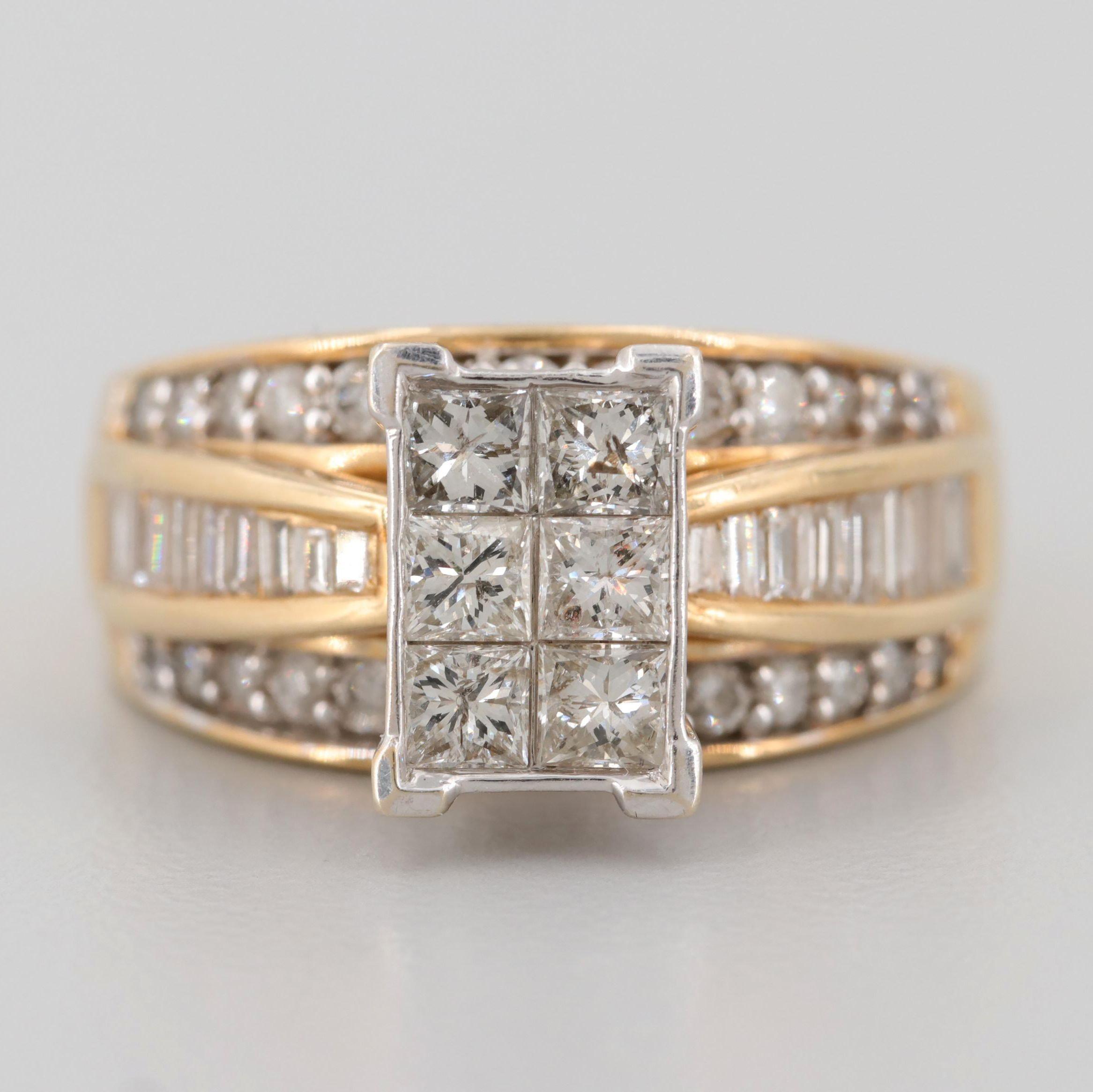 14K Yellow Gold 1.50 CTW Diamond Ring
