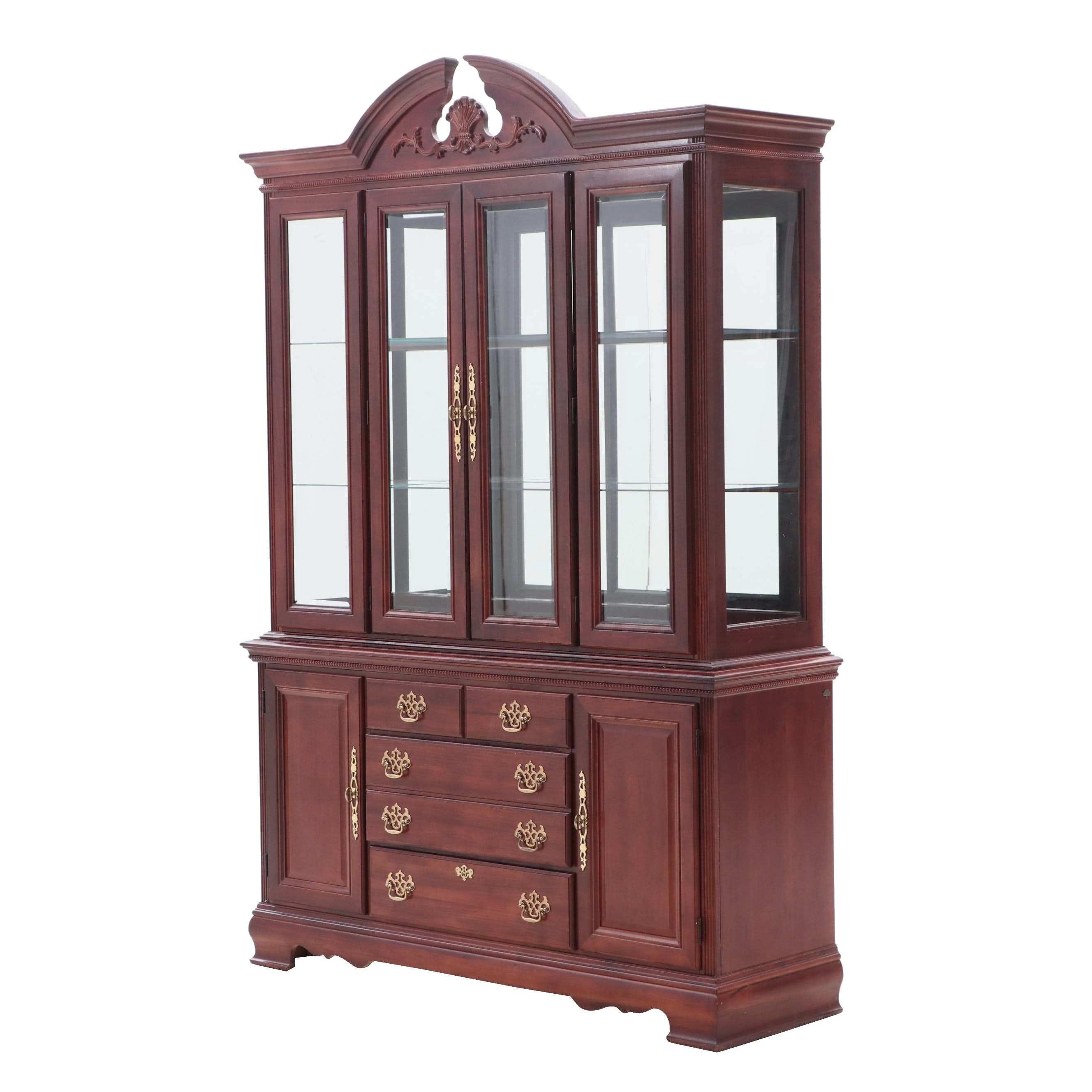 Traditional Style Illuminated China Cabinet by American Drew in Mahogany