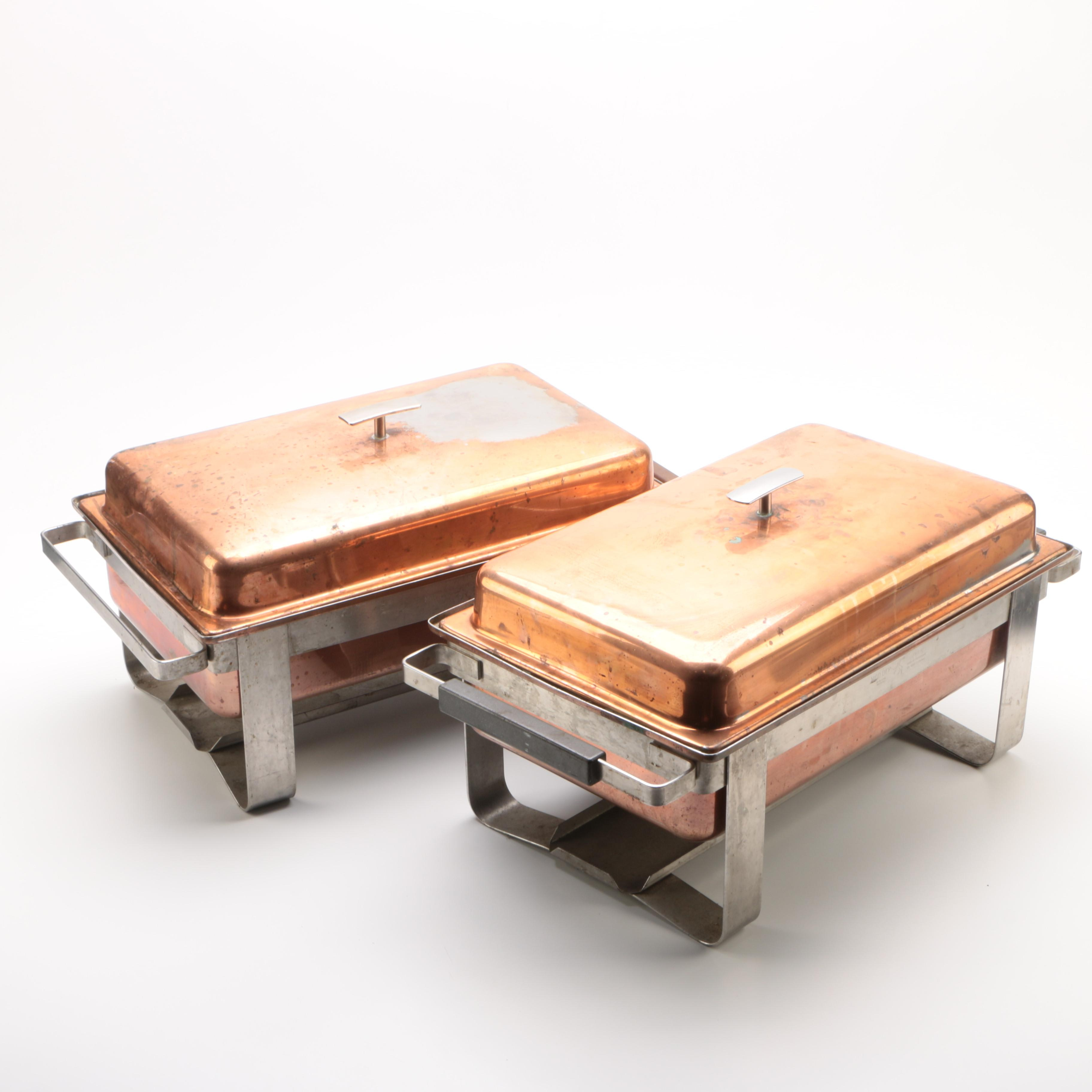 Swiss Spring Inoxydable Steel and Copper Plated Chafing Dishes