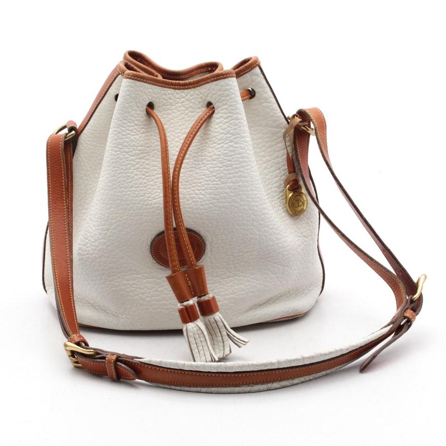 1341378e9b Vintage Dooney & Bourke Leather Drawstring Bucket Bag : EBTH