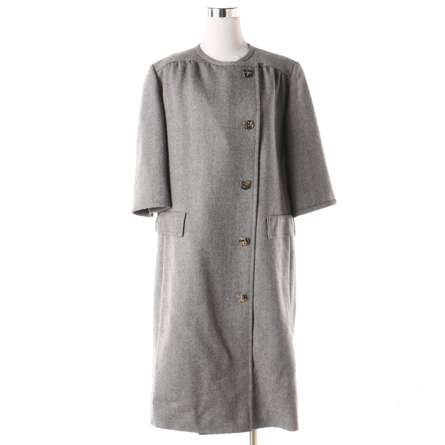 7f030a689a Women s Grey Herringbone Dress Coat