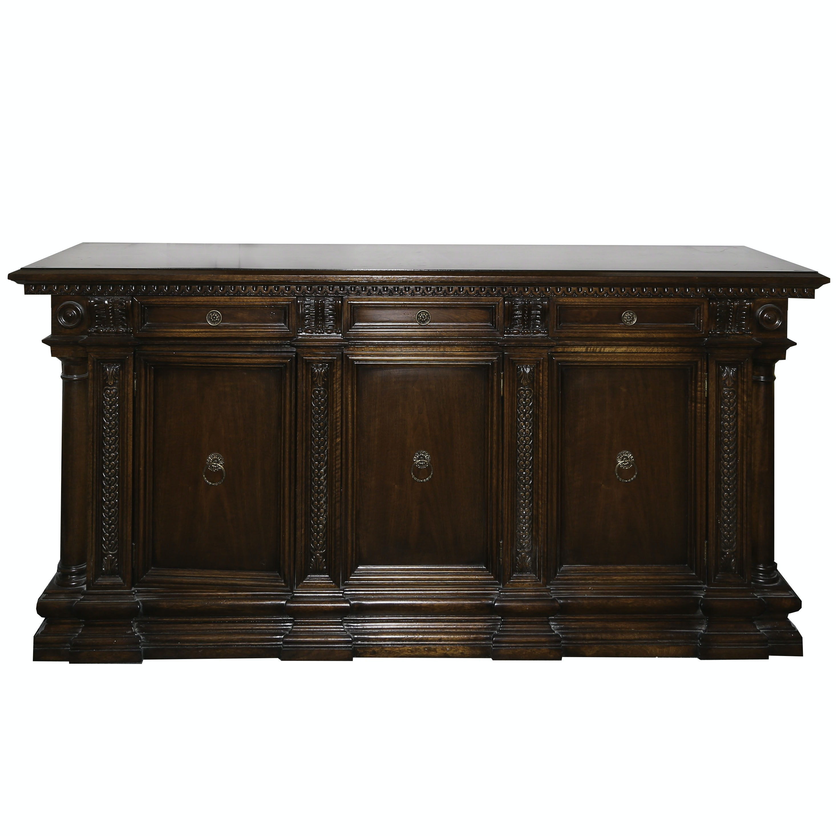 Neoclassical Style Mahogany Finish Wood Sideboard by Hickory Chair, 21st Century