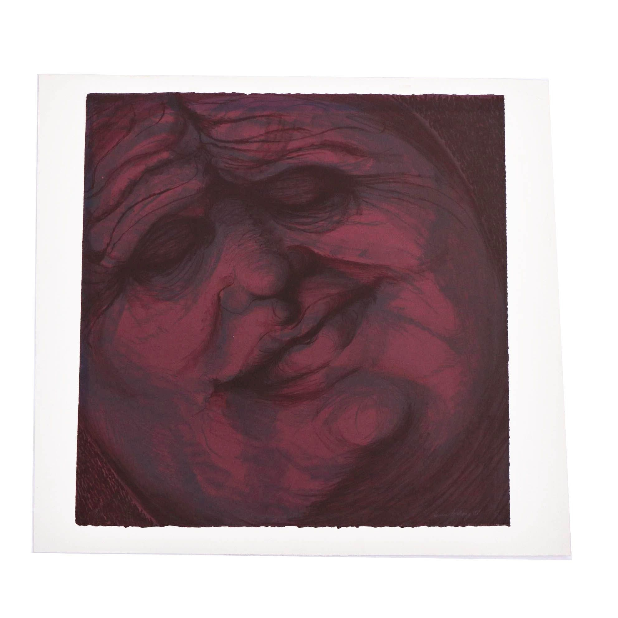 """Janice Forbey 1981 Limited Edition Color Lithograph """"Muddy Waters"""""""