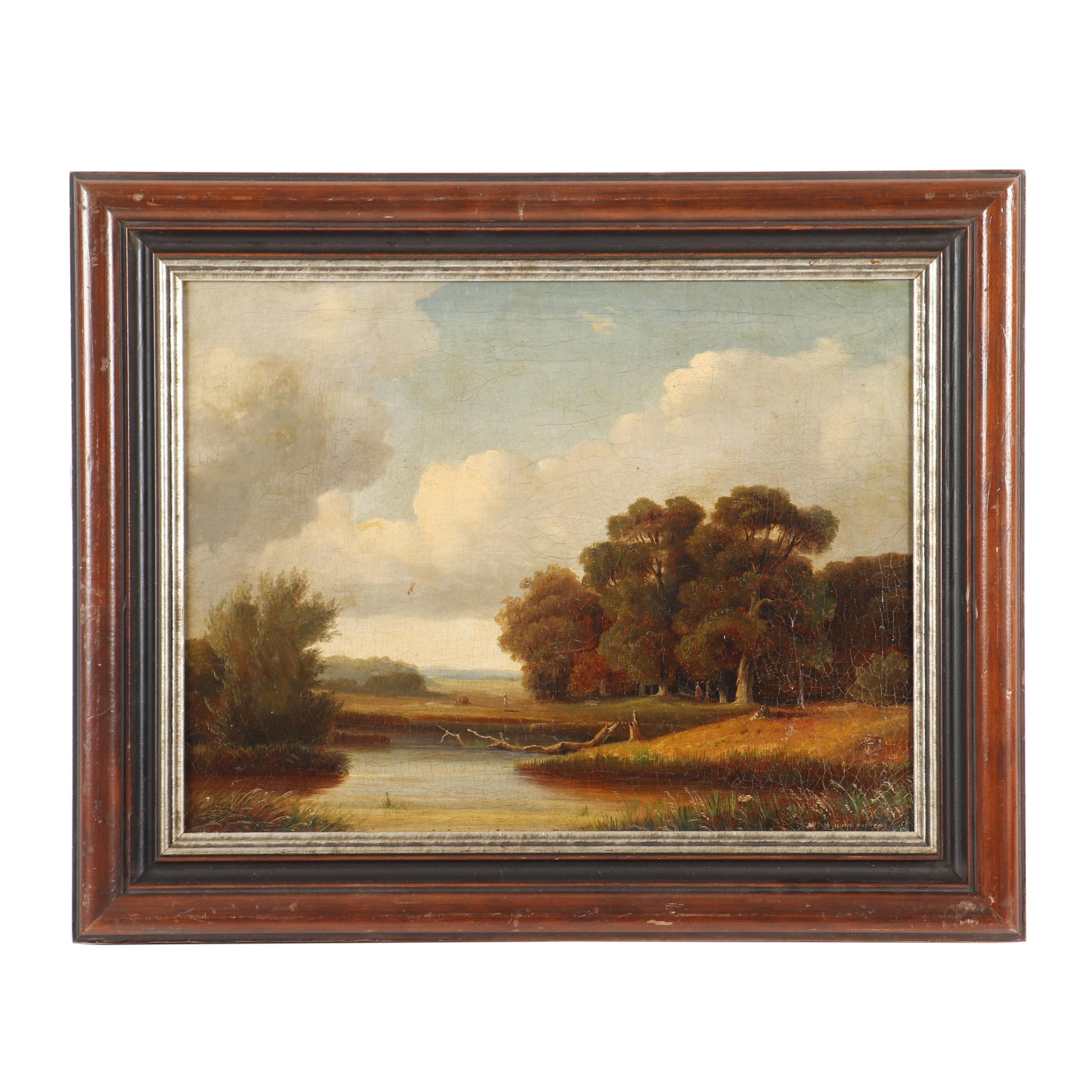 Walther Wunnenberg Landscape Oil Painting