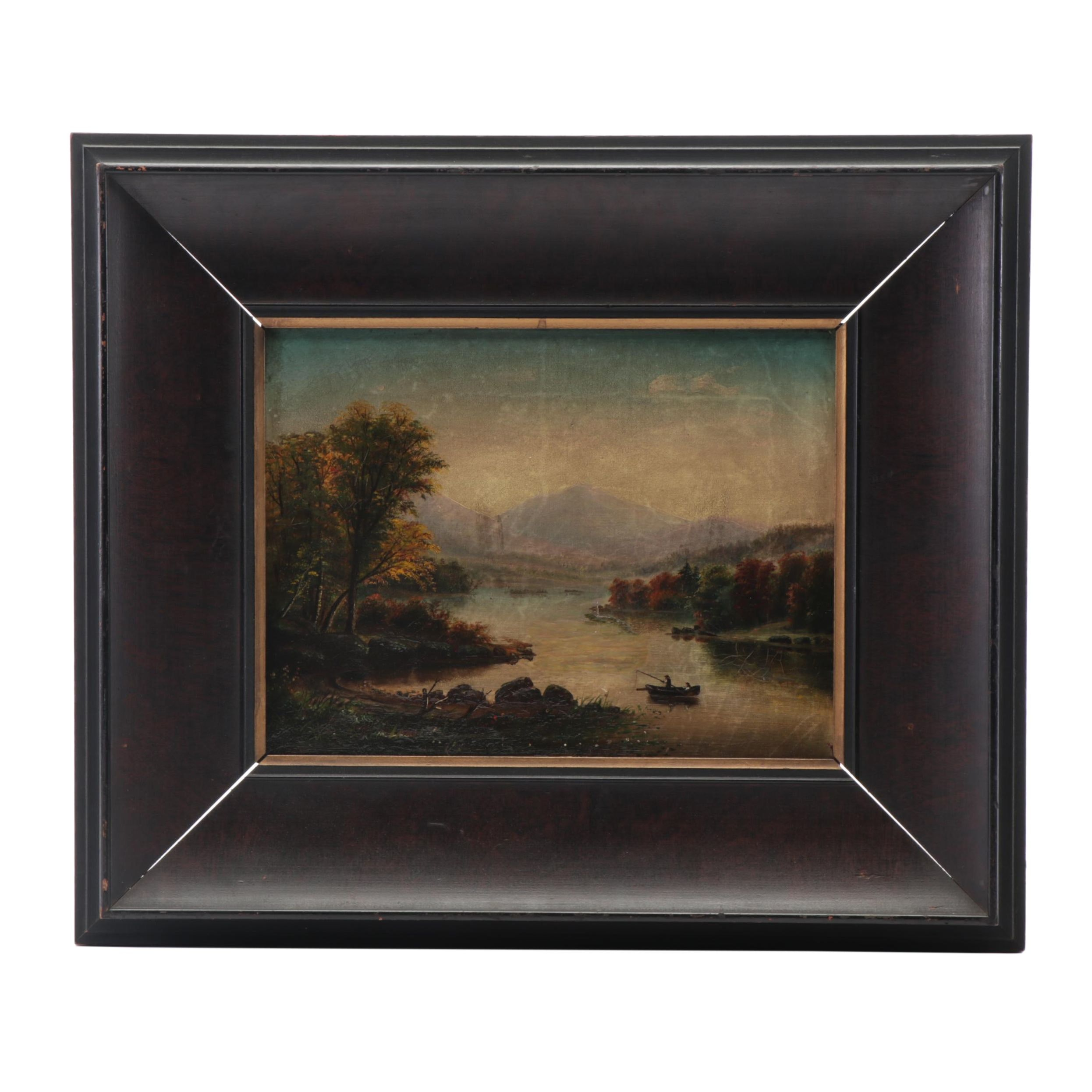 European Landscape Oil Painting, 19th Century