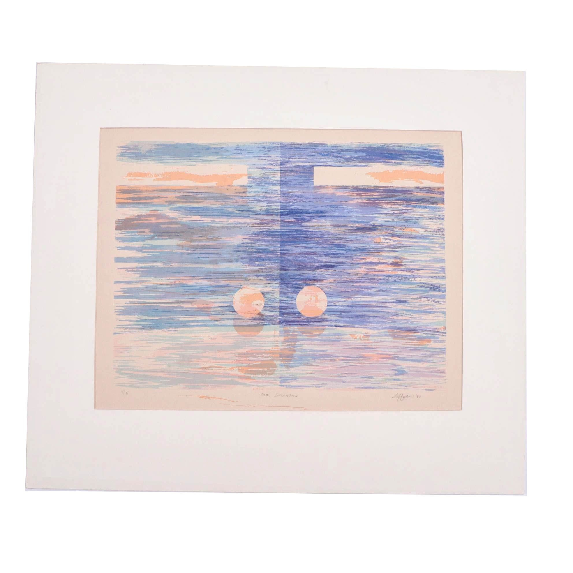 """1981 Limited Edition Serigraph """"Tao: December"""""""