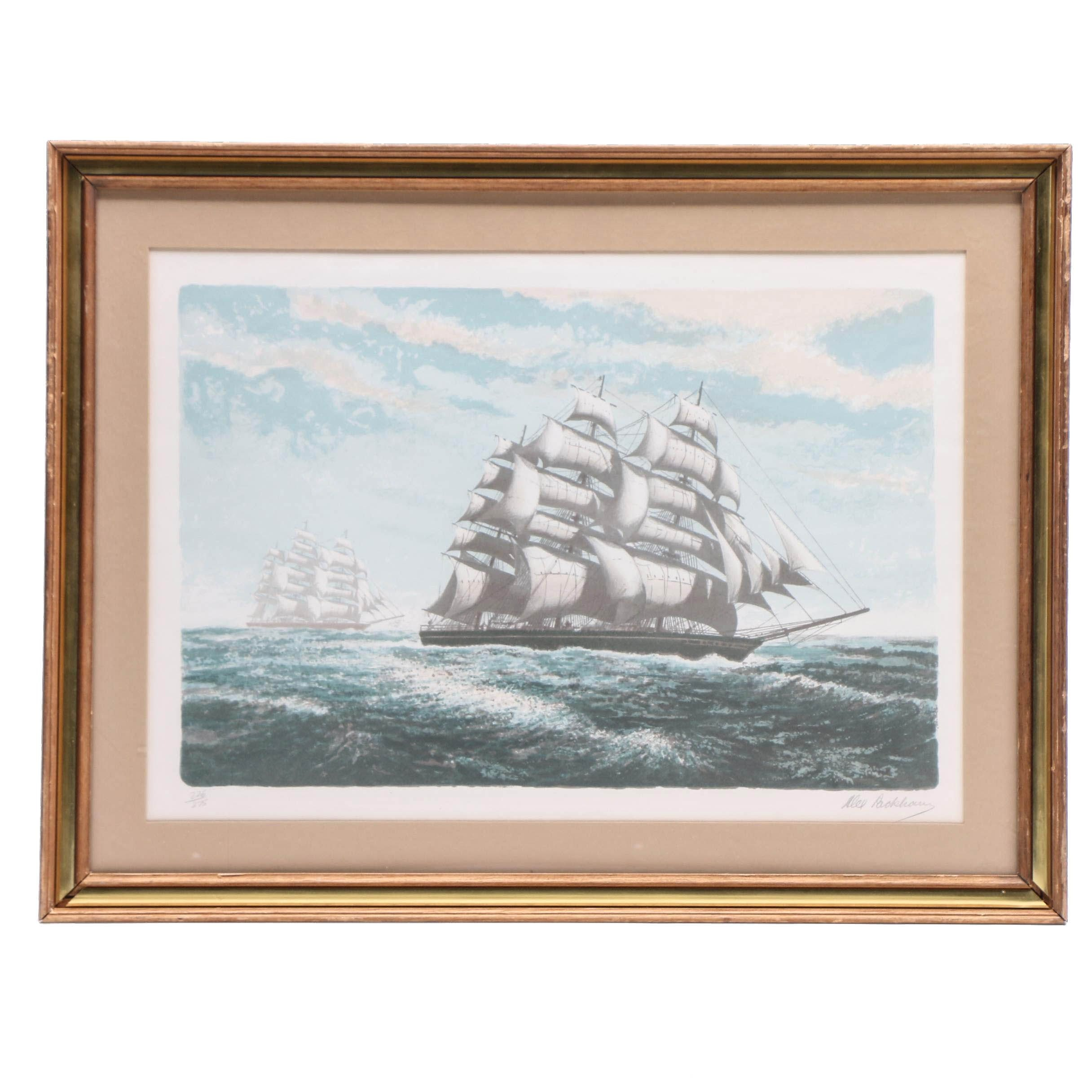 Alexander Packham Limited Edition Maritime Color Lithograph