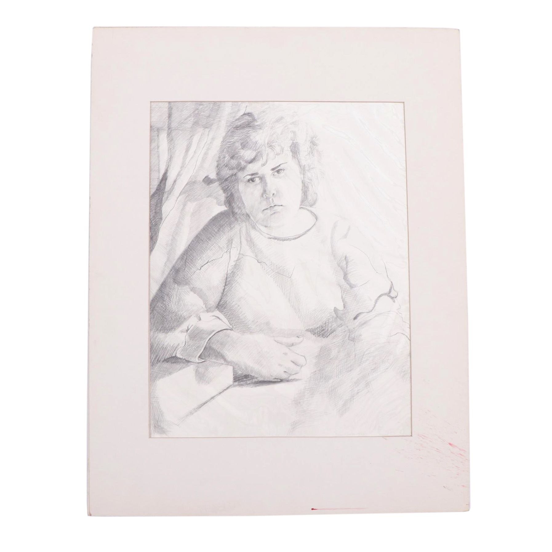 Stacey Clark 1983 Graphite Figure Drawing