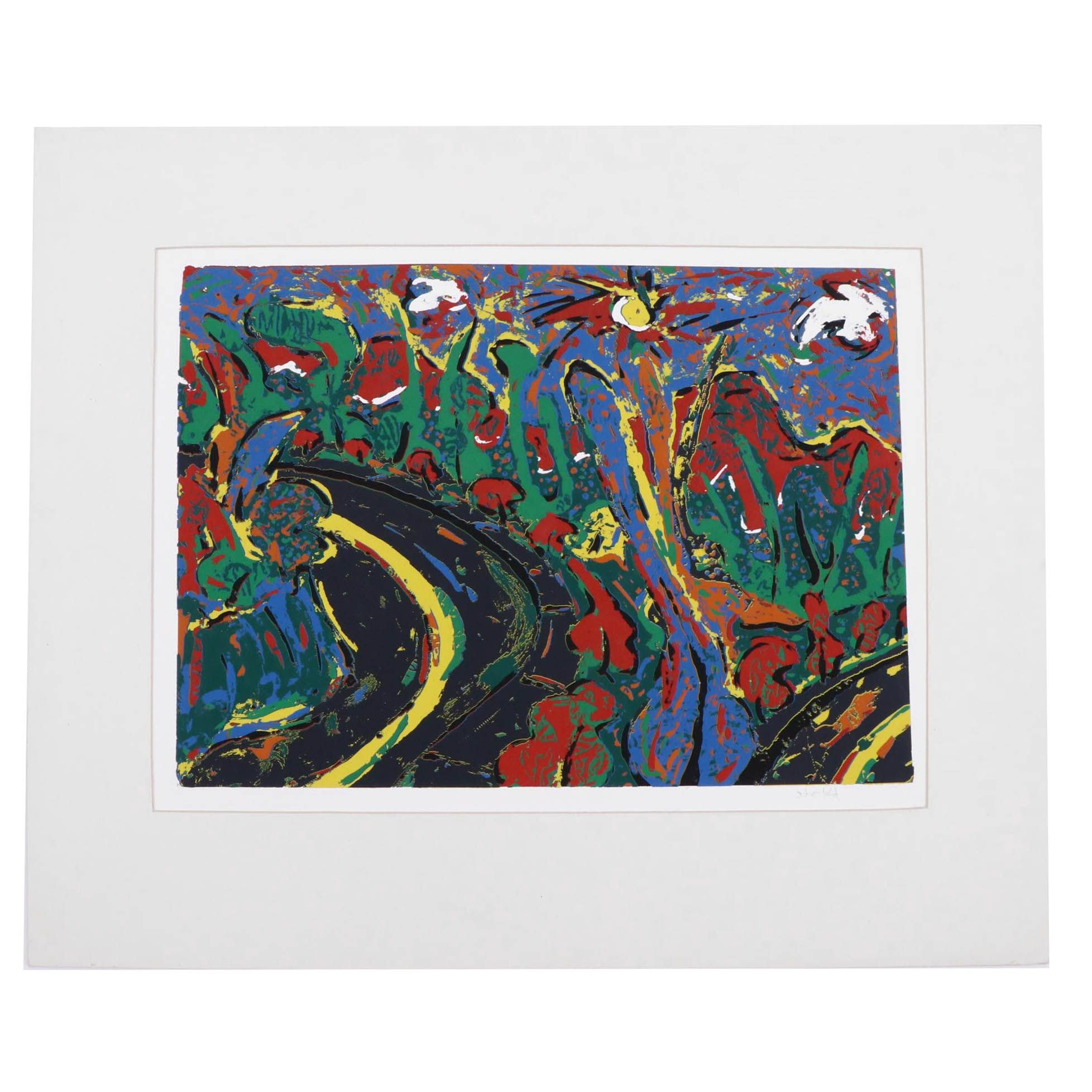 Abstract Open Edition Serigraph