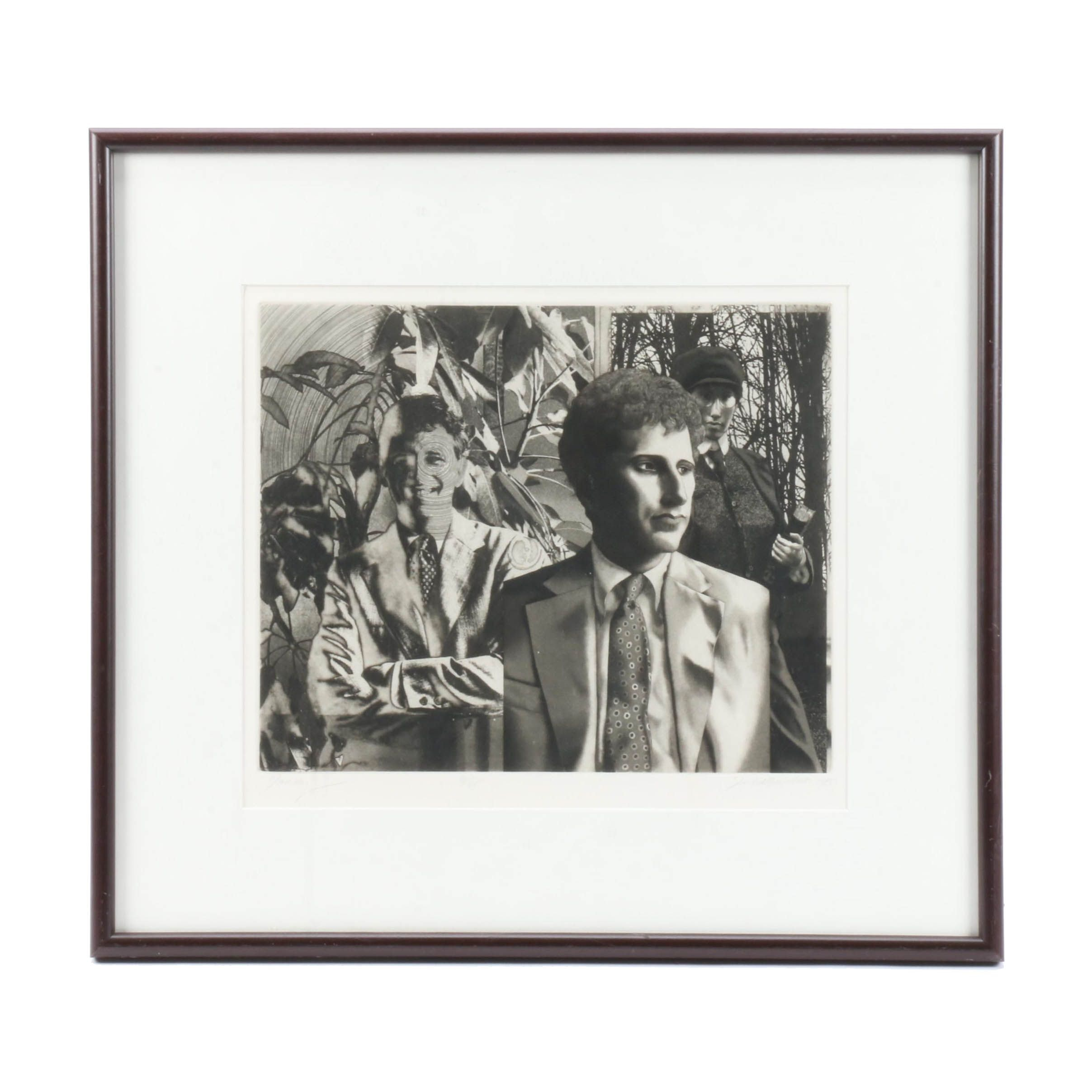 """David A. Bumbeck 1985 Limited Edition Etching with Aquatint """"Danny"""""""