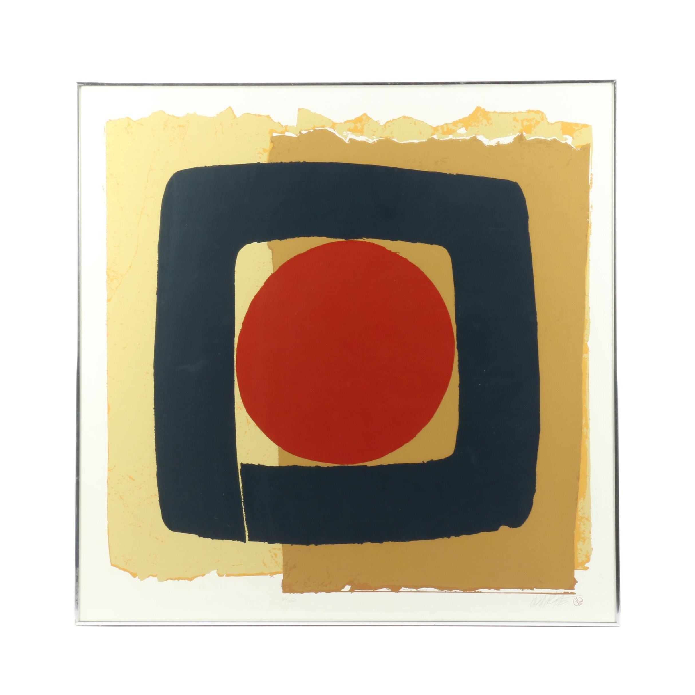 Limited Edition Abstract Serigraph
