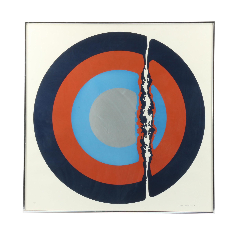 Thomas Whelan Benton Abstract Modernist Serigraph