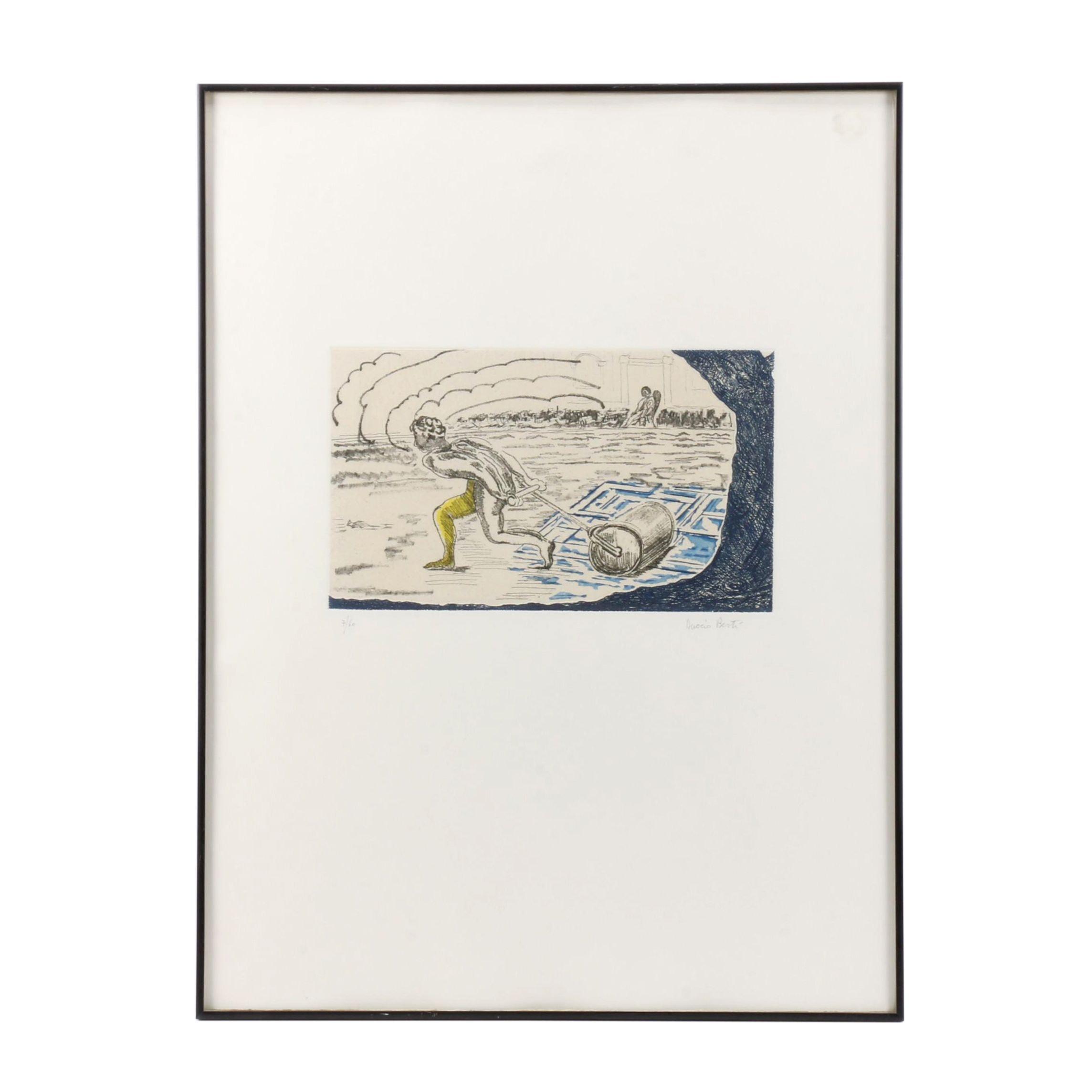 Duccio Berti Limited Edition Etching à la Poupée