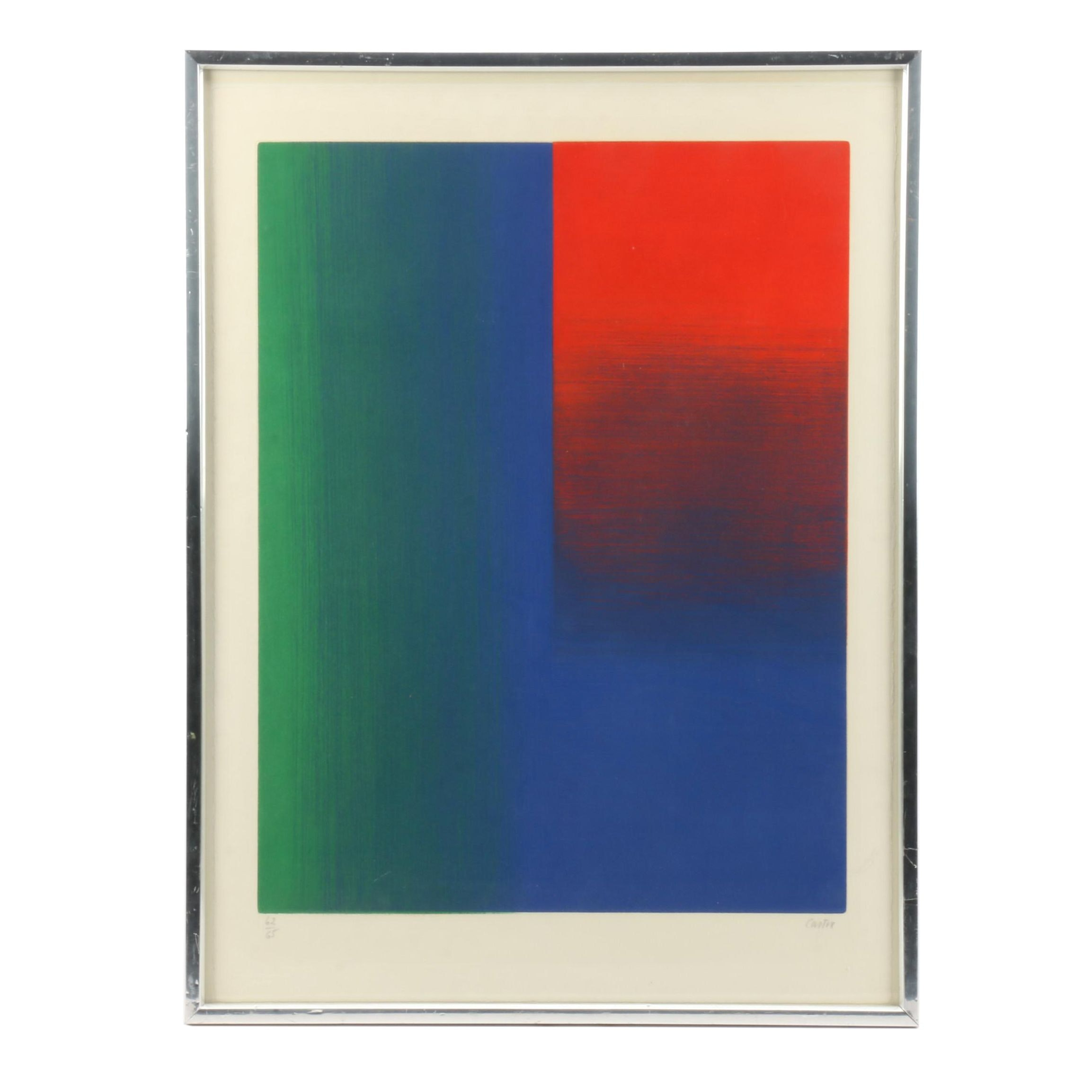 Caster Serigraph of Abstract Color Fields