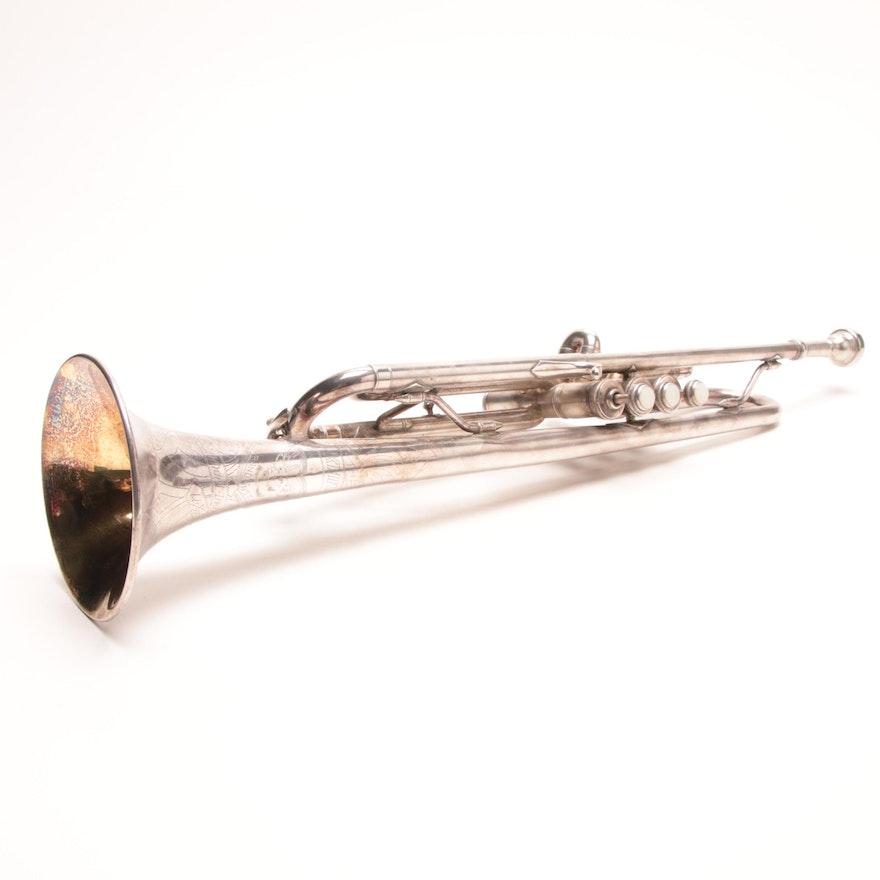 Vintage Elkhart Silver Plated Trumpet