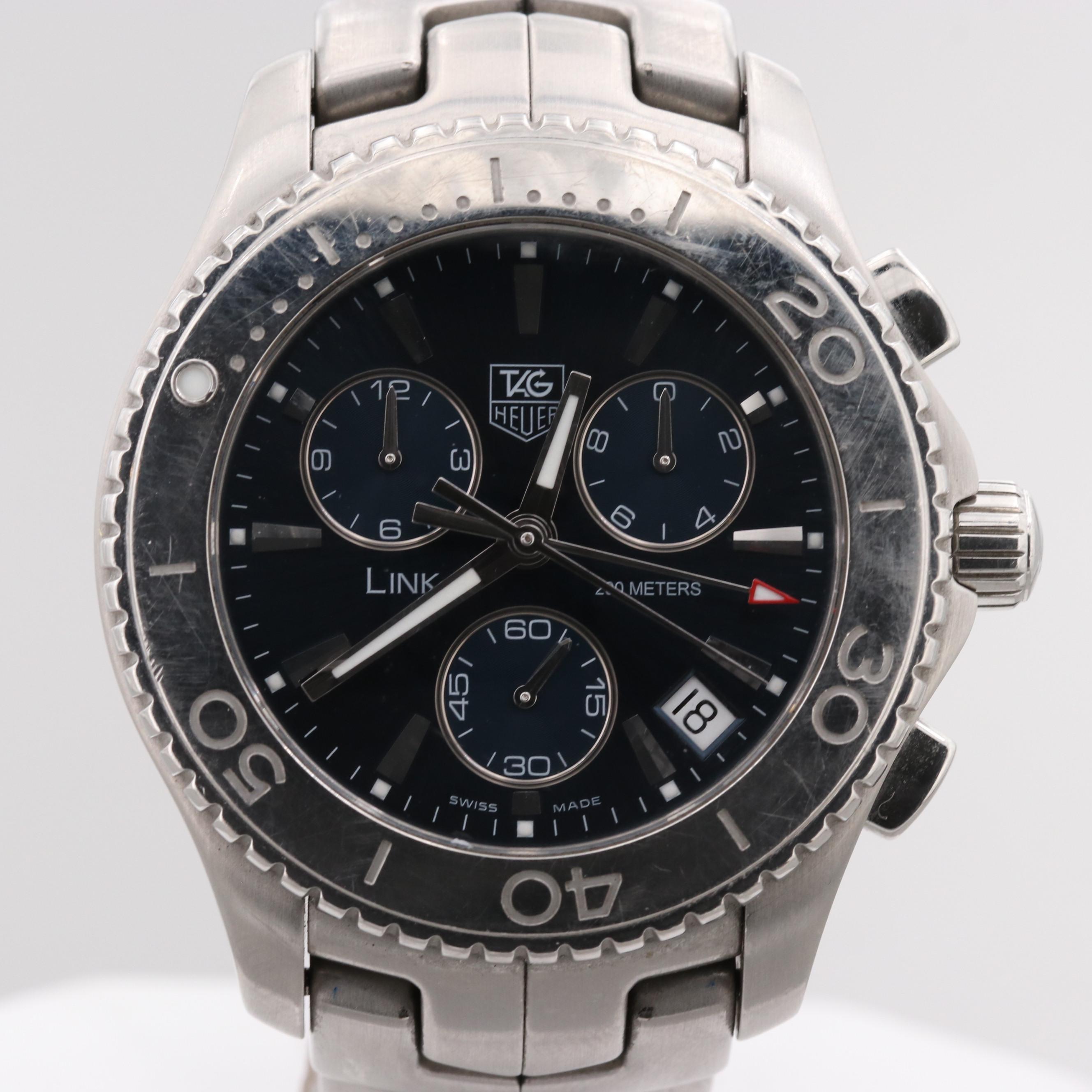 TAG Heuer Link Chronograph Quartz Wristwatch