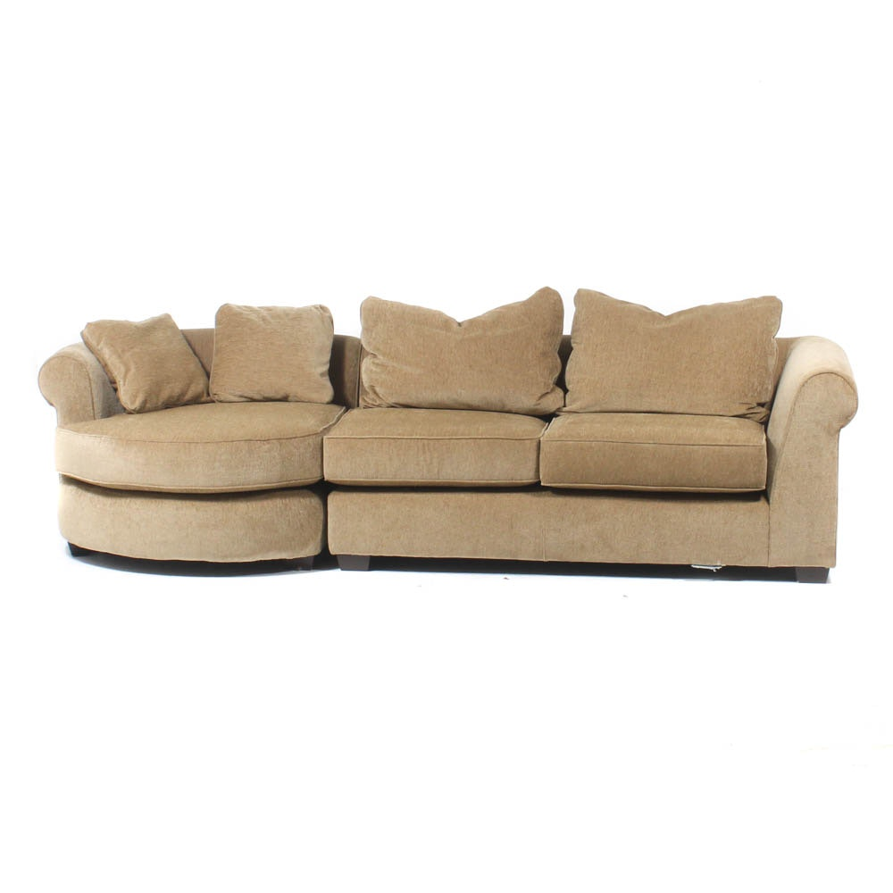 Arhaus Neutral Upholstered Two-Piece Sectional Sofa