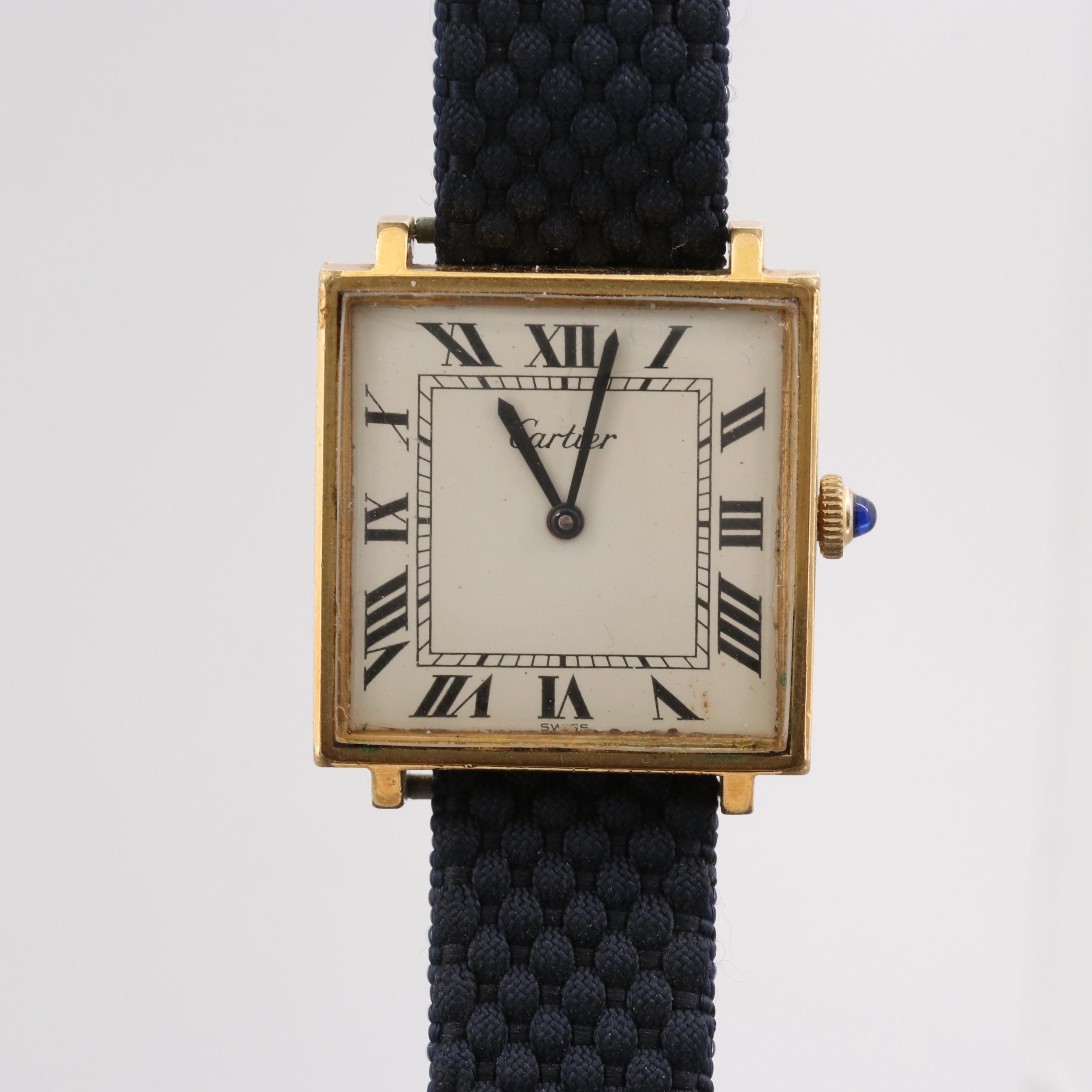 Vintage Cartier Wristwatch With Peseux Movement