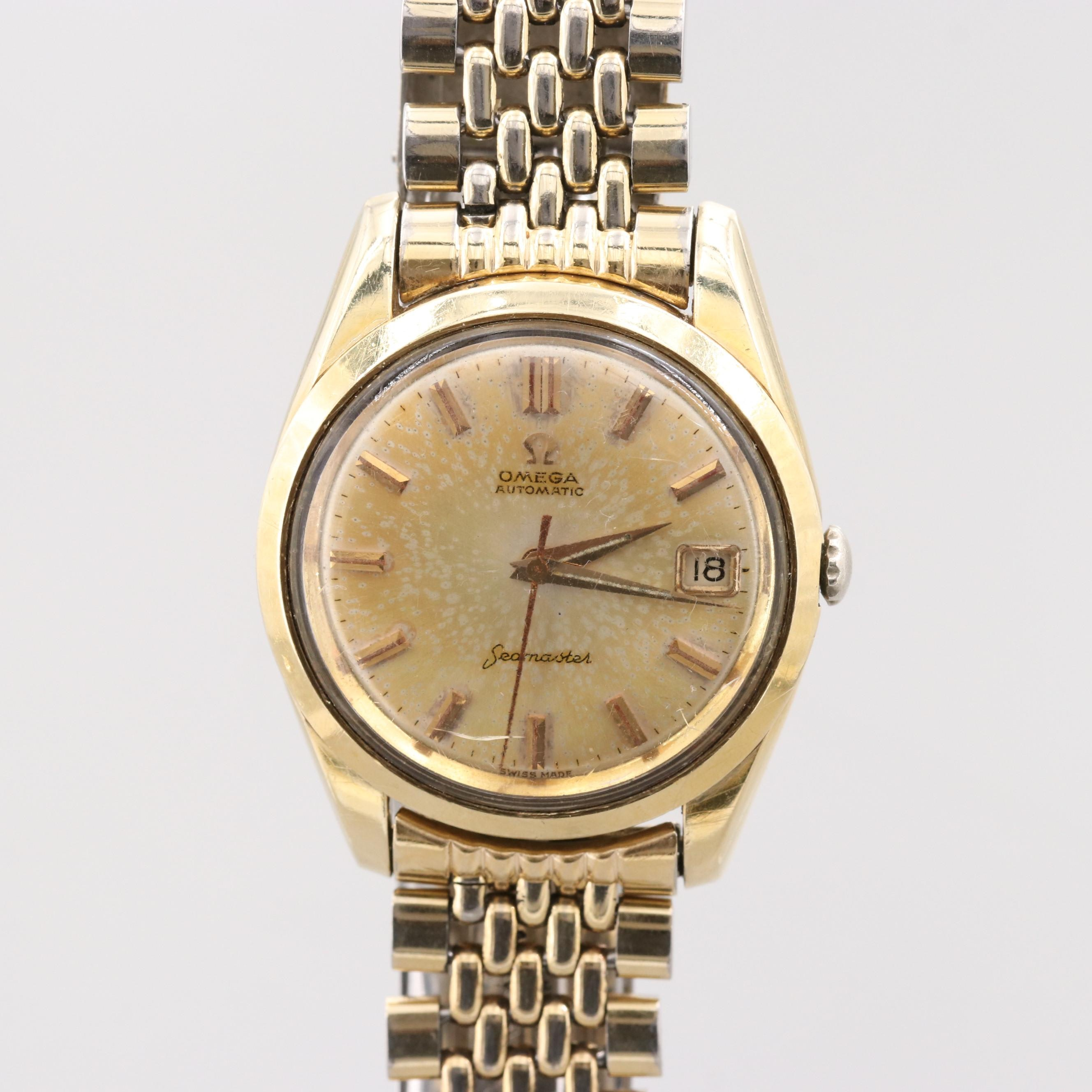 Vintage Omega Seamaster Gold Tone Automatic Wristwatch, Circa 1962