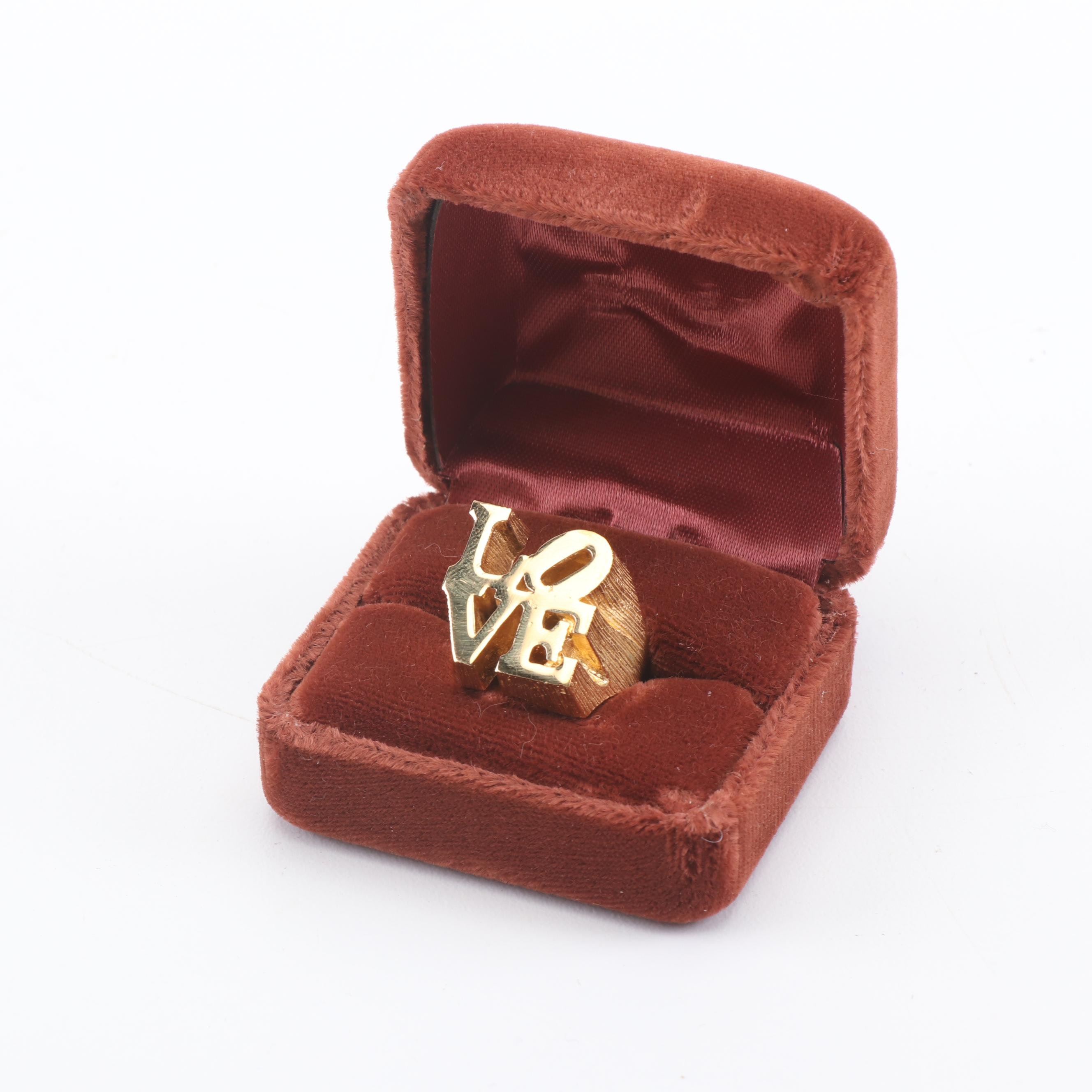 'The Love Ring' Ultima 2 Charles Revson Costume Jewelry Ring