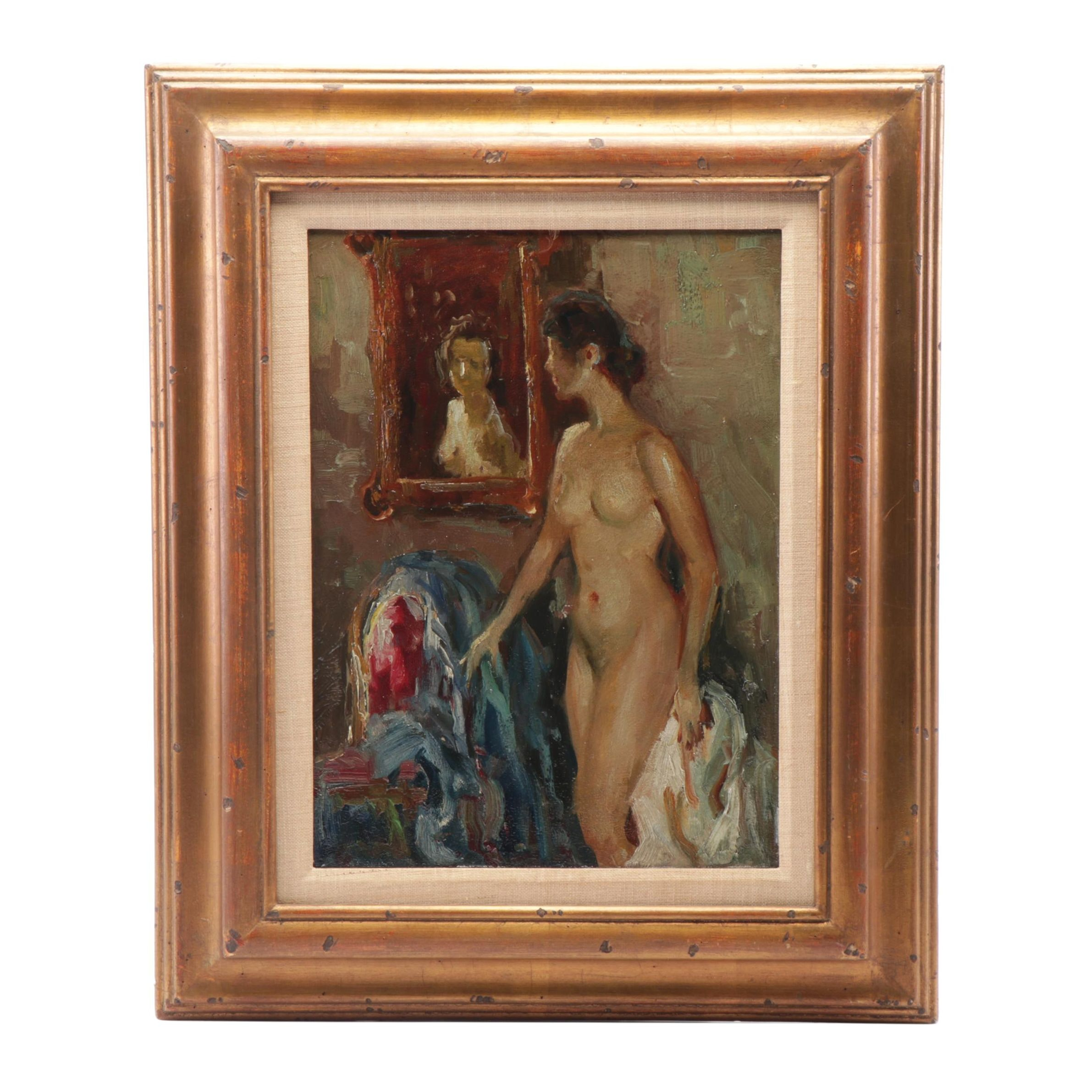 Portrait Oil Painting of Female Nude