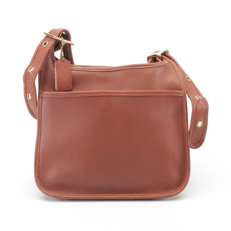 Coach Legacy Zip Brown Leather Shoulder Bag 08f2c6b7208d6