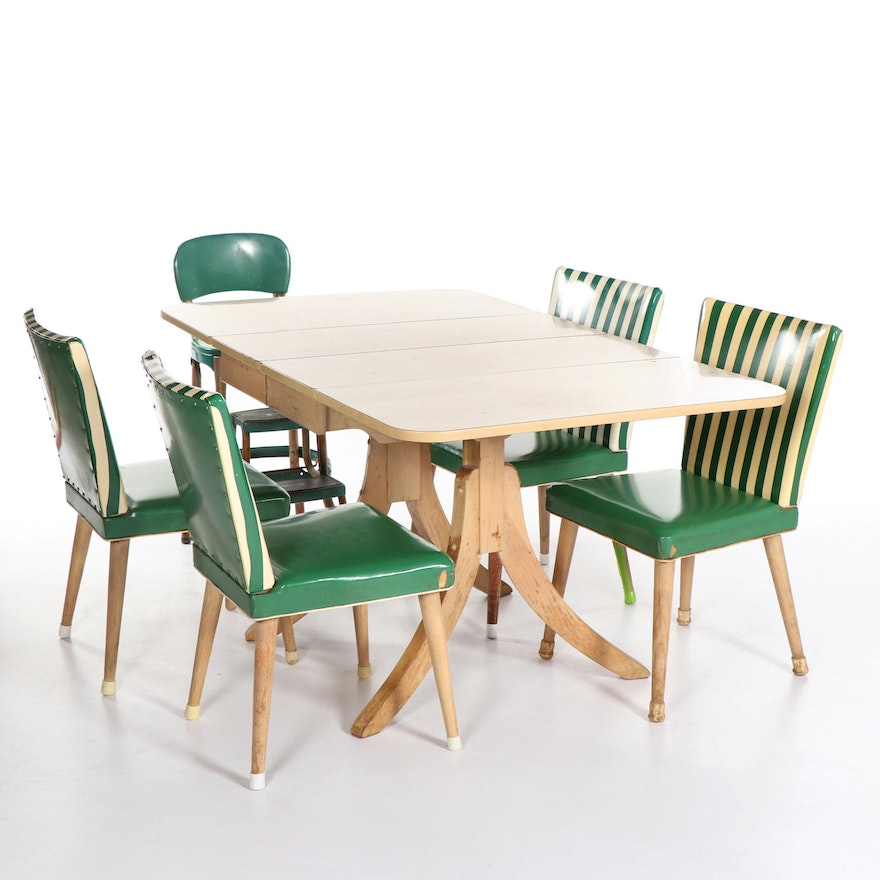 Mid Century Modern Dining Table with Chairs by Meier & Pohlmann, 20th  Century