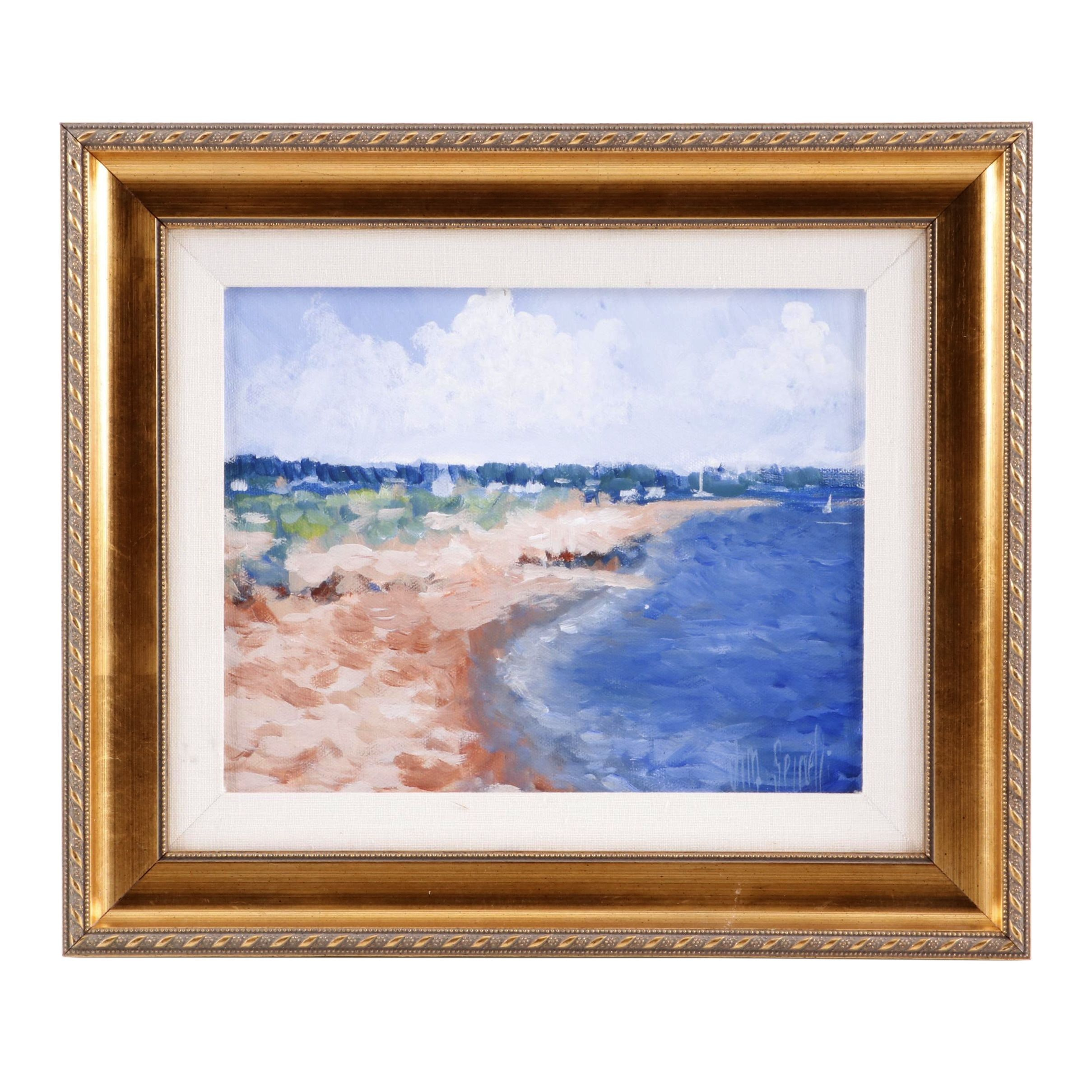 Jim Spinelli Beach Landscape Acrylic Painting