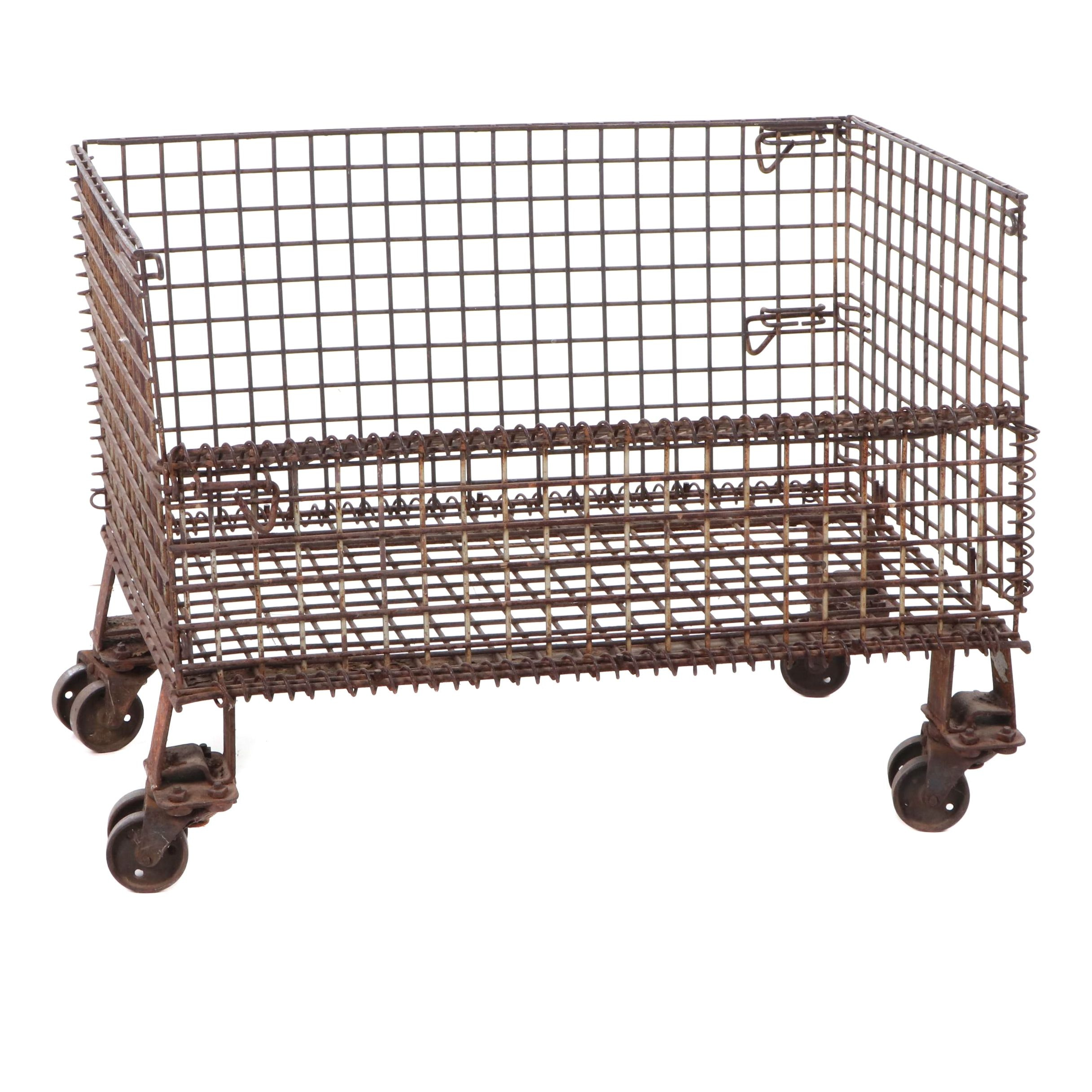 Industrial Iron Cart, 20th Century