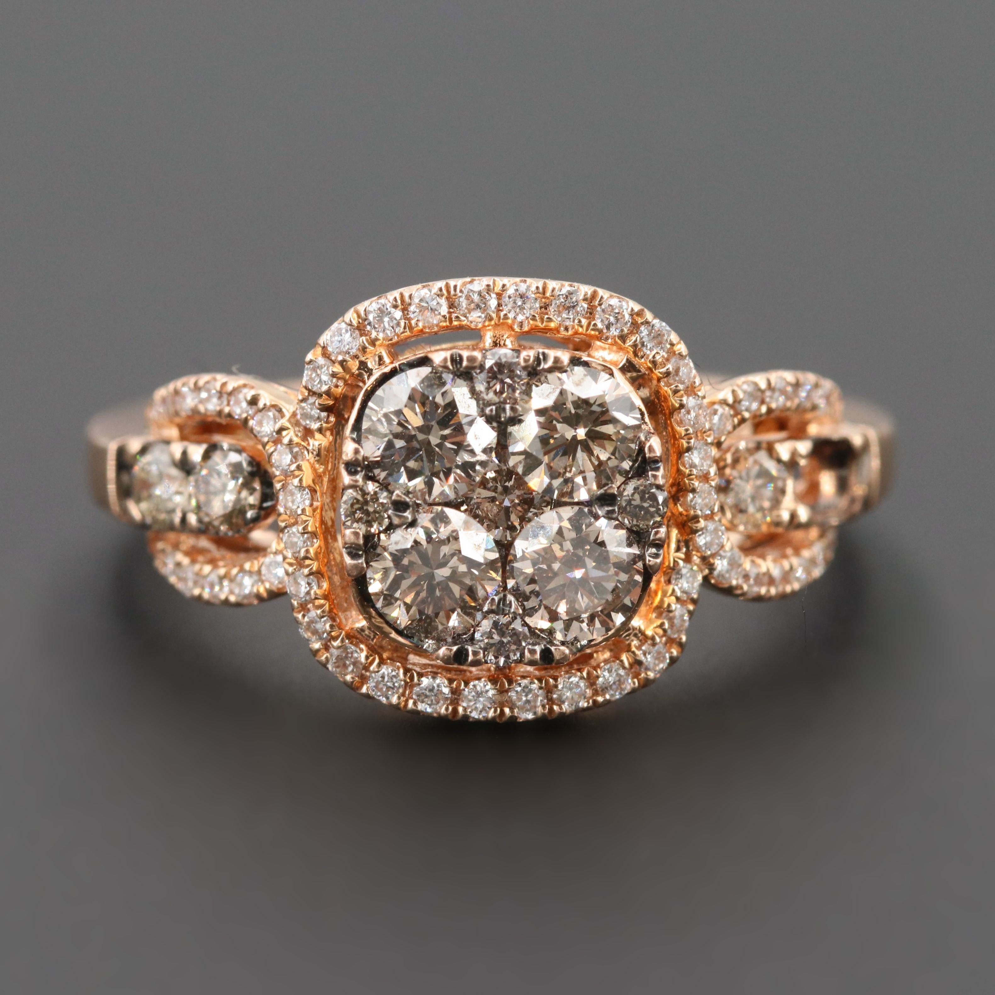 Le Vian Limited Edition 14K Rose Gold 0.97 CTW Diamond and Ruby Ring