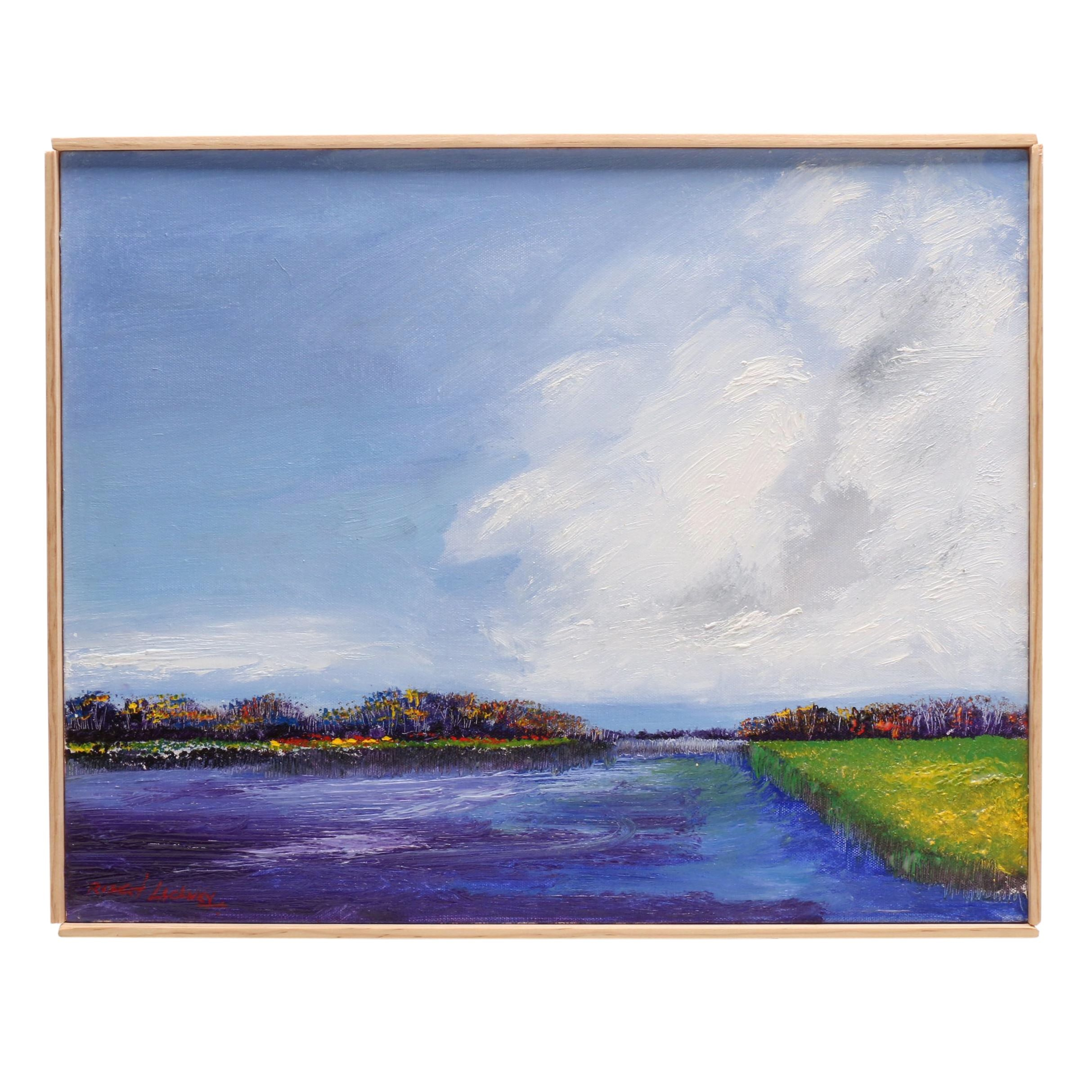 "Robert Lackney Oil Painting ""Paradise"""