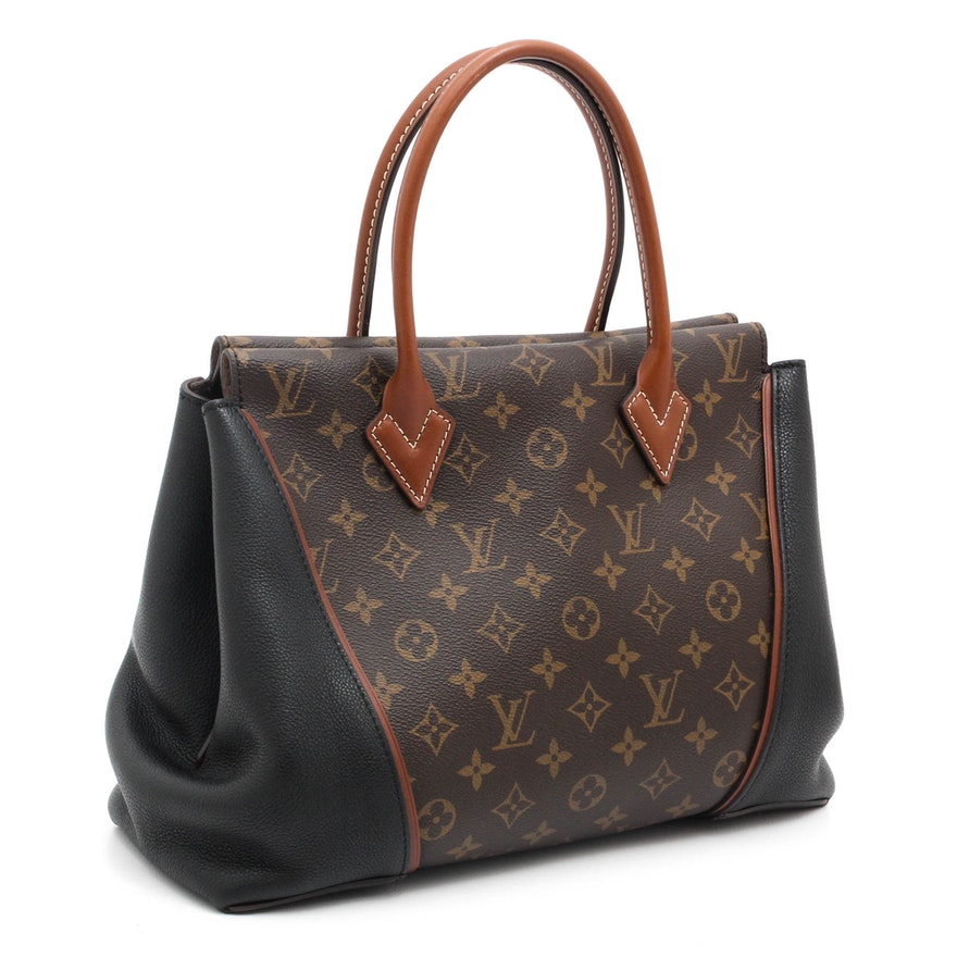 fc3963a4579ac6 Louis Vuitton Paris Monogram Coated Canvas and Leather W PM Tote Bag ...