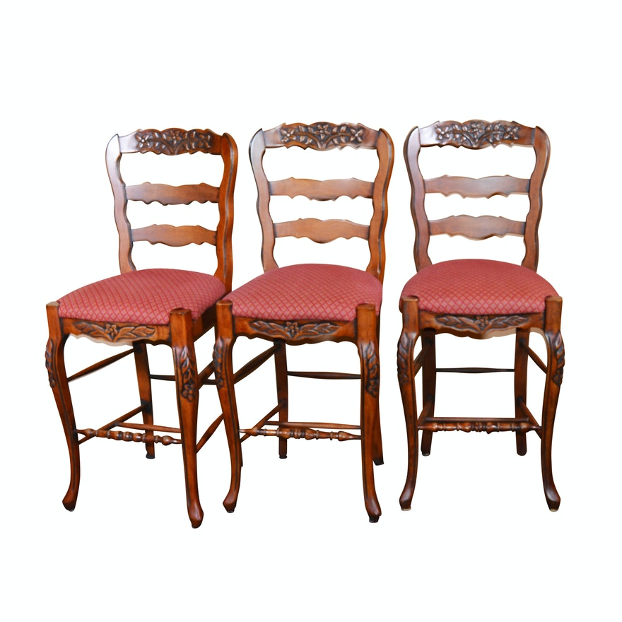 Swell Three French Provincial Style Counter Height Stools 21St Century Ncnpc Chair Design For Home Ncnpcorg