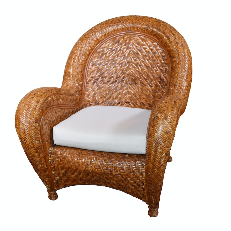 Quot Malabar Quot Rattan Lounge Chair By Pottery Barn 21st