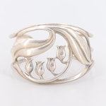 """Sterling Silver """"Lily of the Valley"""" Cuff Bracelet"""