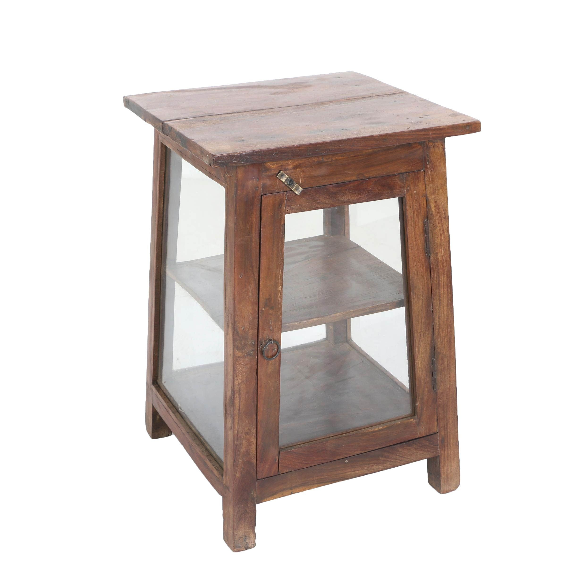 Exotic Hardwood and Glass Display Table, Late 20th Century