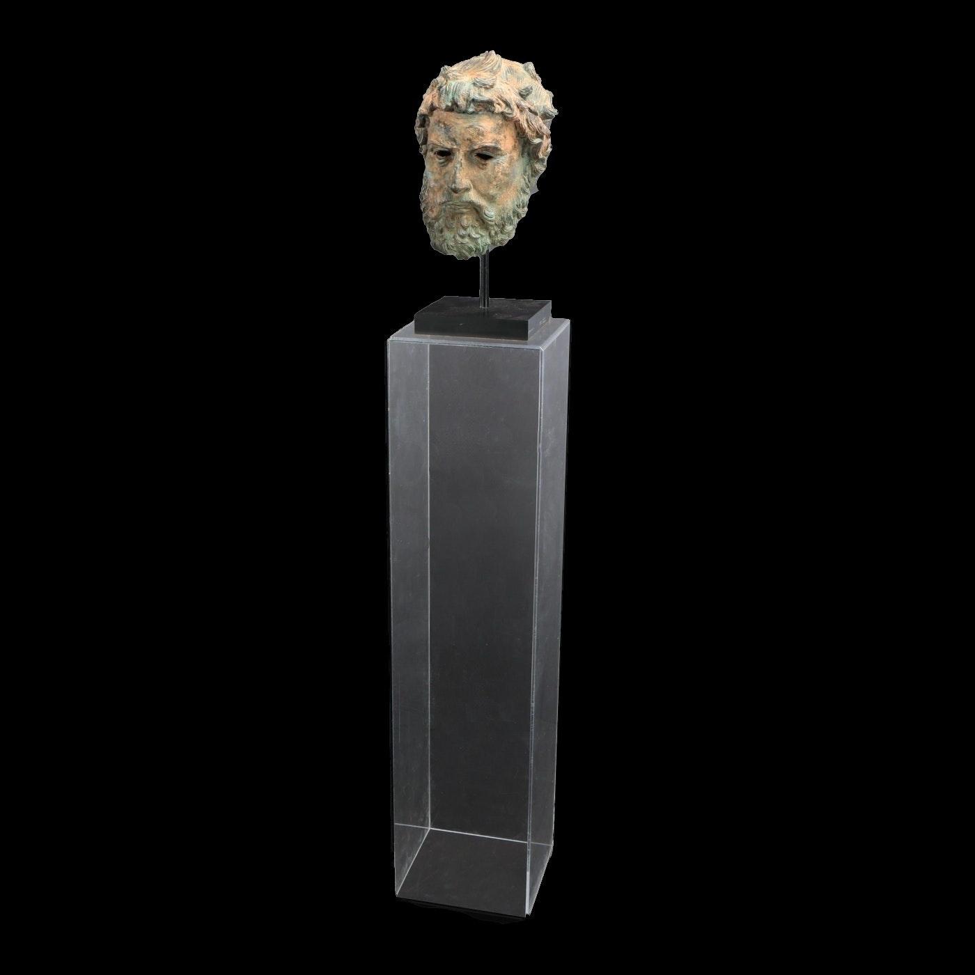 Metal Cast Sculpture of Sophocles