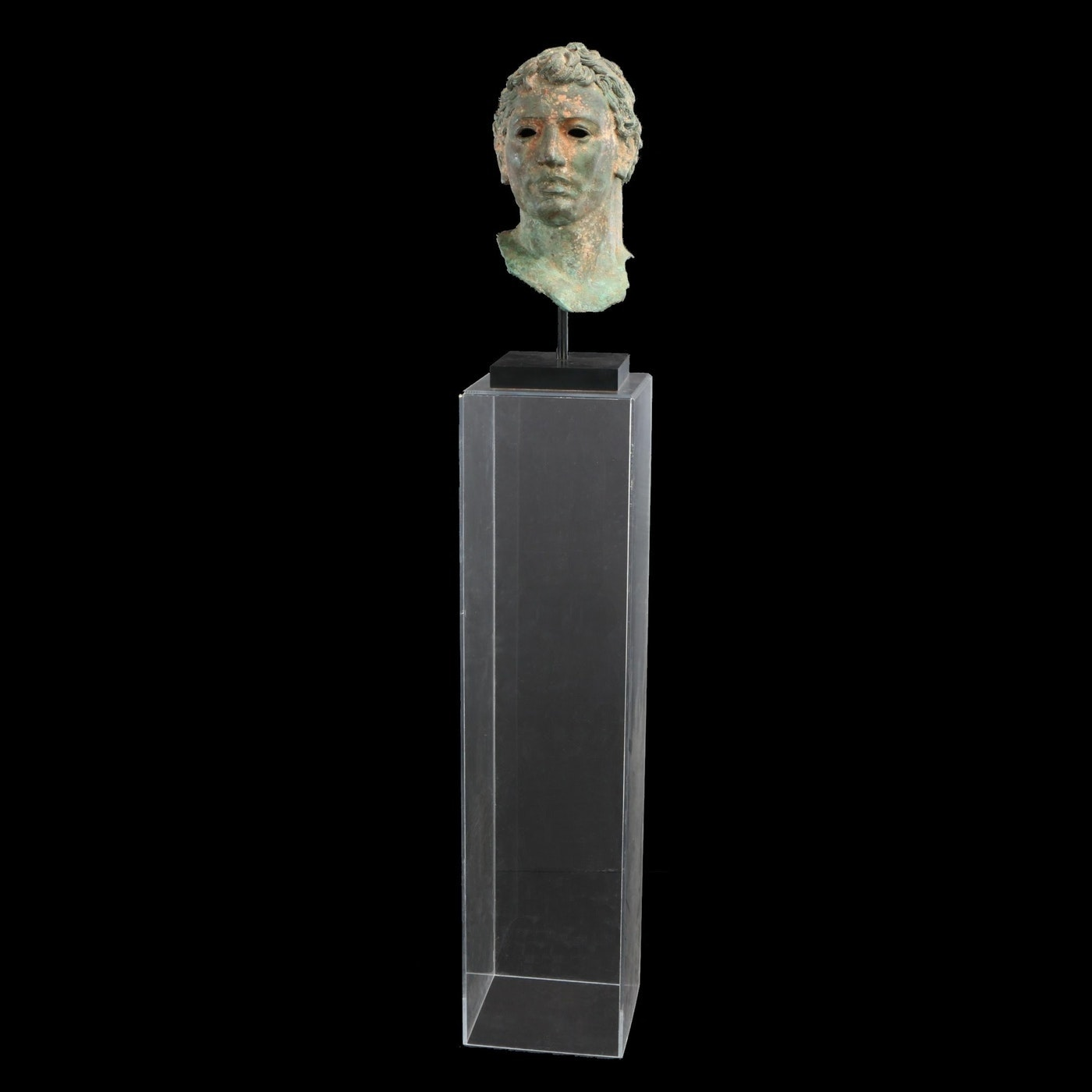 Greco-Roman Style Cast Metal Bust