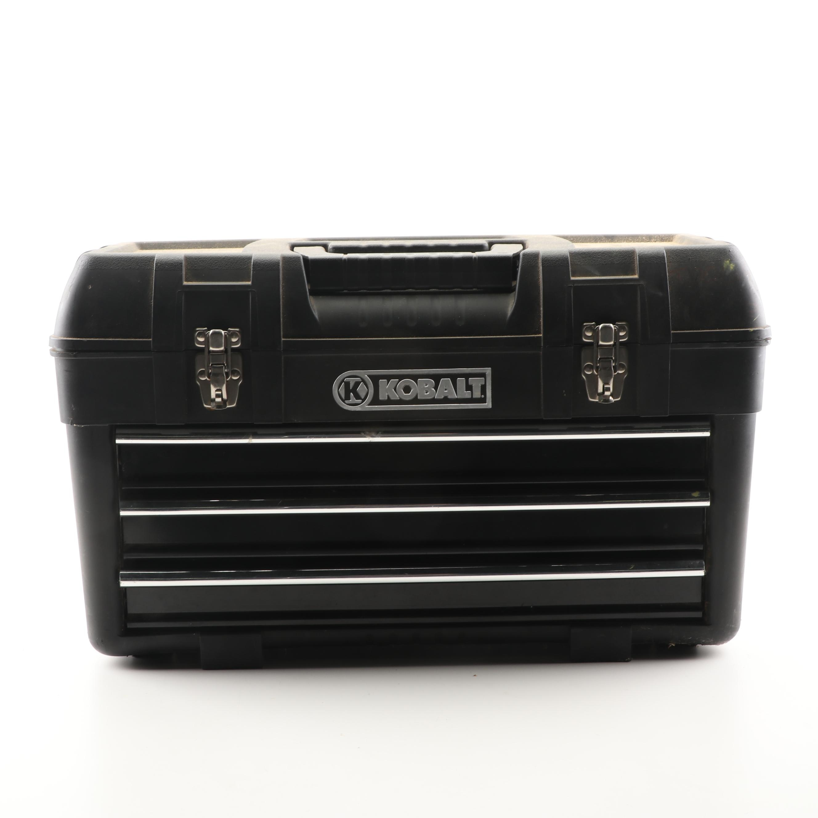 Kobalt Tool Box with Wrenches, Nailers, Screwdrivers and More