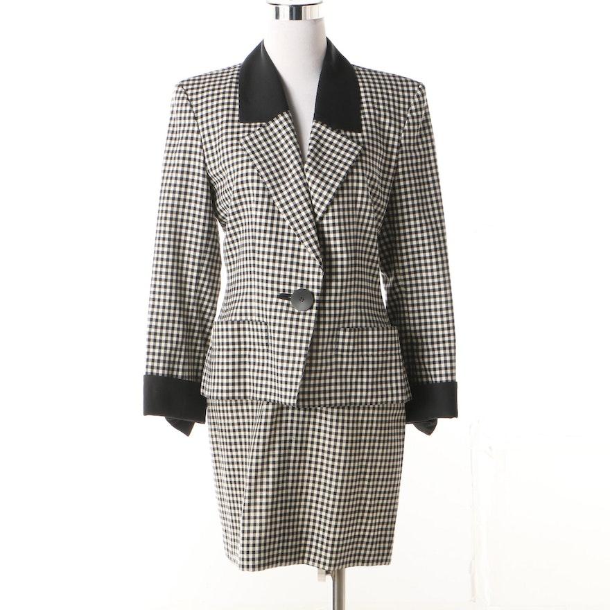 9aef5f989622c4 Yves Saint Laurent Jacket and Escada by Margaretha Ley Skirt ...