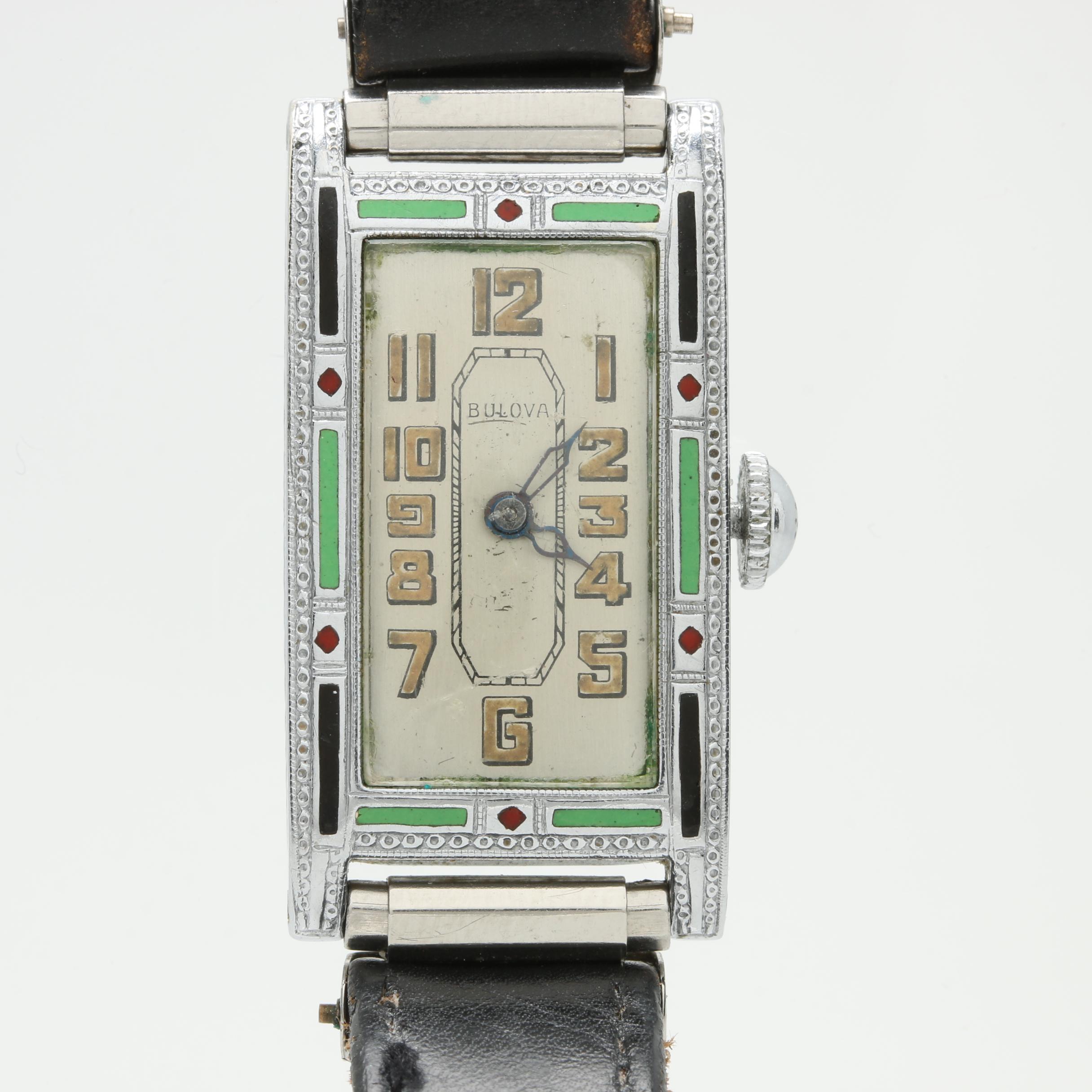 Bulova Gold Filled Enamel Wristwatch
