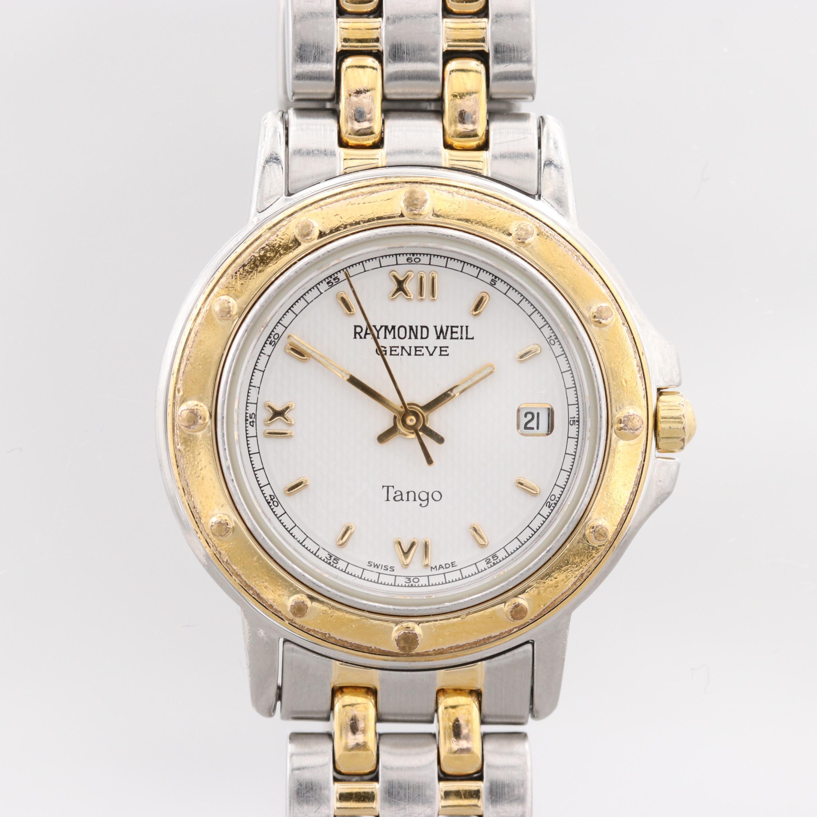 Raymond Weil Tango Two Tone Stainless Steel Quartz Wristwatch