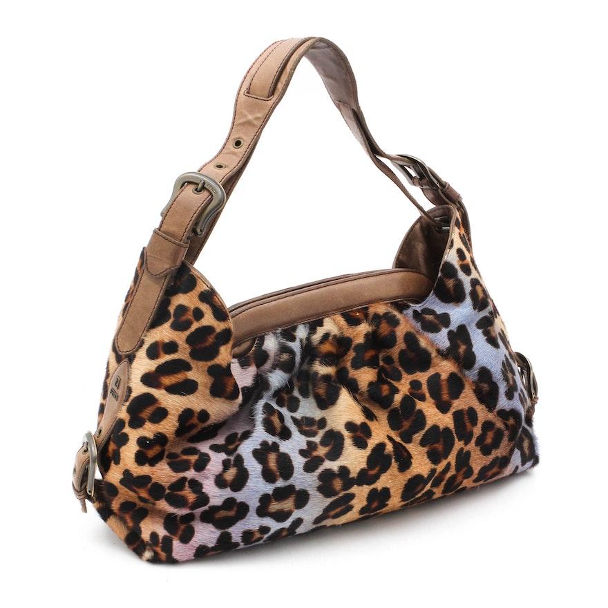 908296765735 Fendi Multicolor Leopard Dyed Calf Hair Shoulder Bag   EBTH