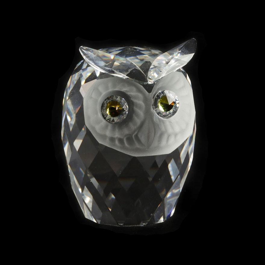 131ead418 Swarovski Crystal Owl Figurine Designed by Max Schreck, 1979-88 : EBTH