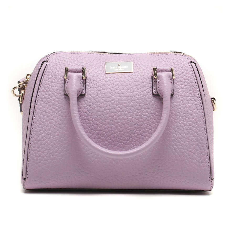 55043cd9cf640 Kate Spade New York Lilac Leather Prospect Place Small Pippa Satchel   EBTH