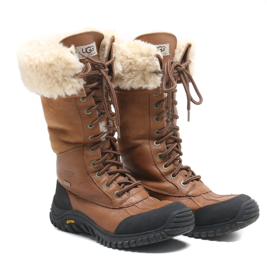 37d0cde0550 Women's UGG Australia Sheepskin and Leather Boots with Vibram Rubber  Outsoles