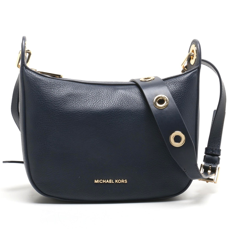 4979f0f9a9899 MICHAEL Michael Kors Raven Medium Messenger Admiral Blue Leather Crossbody  Bag   EBTH