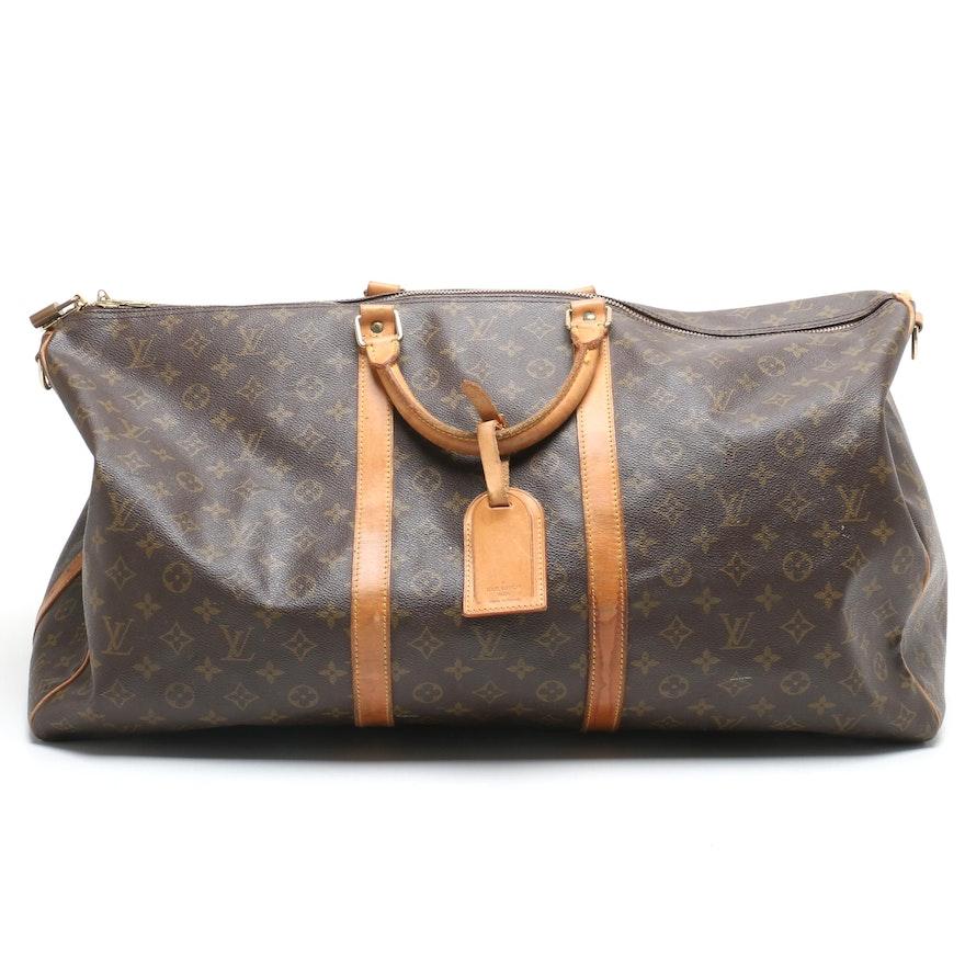 e59b8bff64d5 1992 Louis Vuitton Monogram Canvas Keepall 60 Duffel Bag