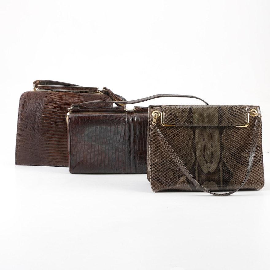 358d41ecc8c Python Skin and Lizard Skin Handbags Including Coblentz Original ...