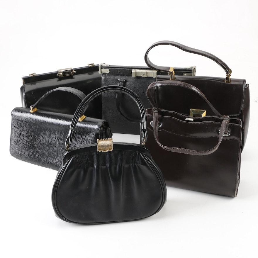 fa2ad43defd2 Leather Top Handle Bags Including Dofan, Koret, Garay and Andrew Geller,  Vintage ...